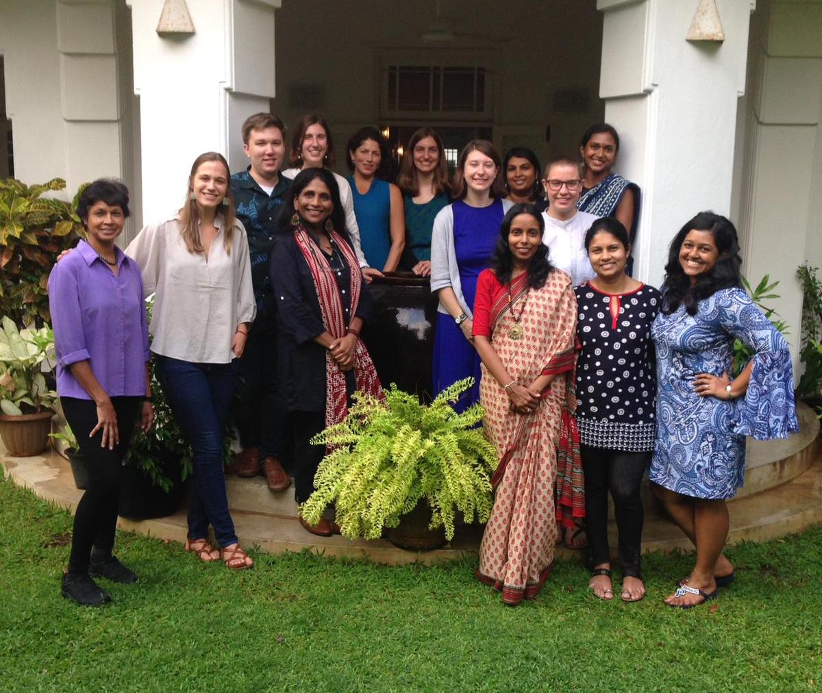 The 2018-19 cohort of Fulbrighters, along with most of the US-SLFC staff, at the US-Sri Lanka Fulbright Commission in Colombo.