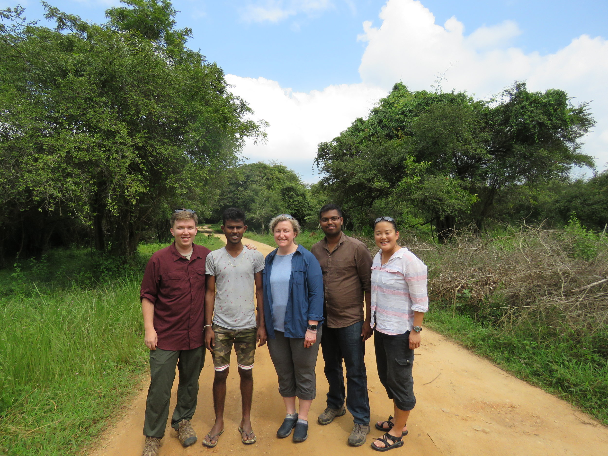 We took this group photo after admitting defeat and getting in touch with our rescuers. Left to right: Chase, Nirosh, Elizabeth, Sachintha, and Wendy.