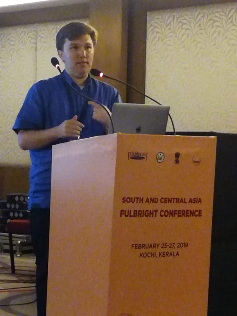 At the podium sharing my work. Photo: Sandarshi Gunawardena.