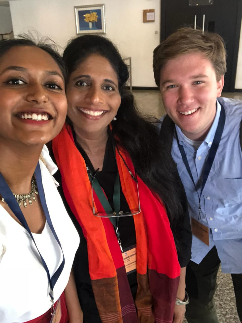 Quick break for a selfie during the last day of the conference with Meghana Nallajerla (another Sri Lanka Fulbright student) and Sandarshi Gunawardena (Executive Director of US-SLFC).