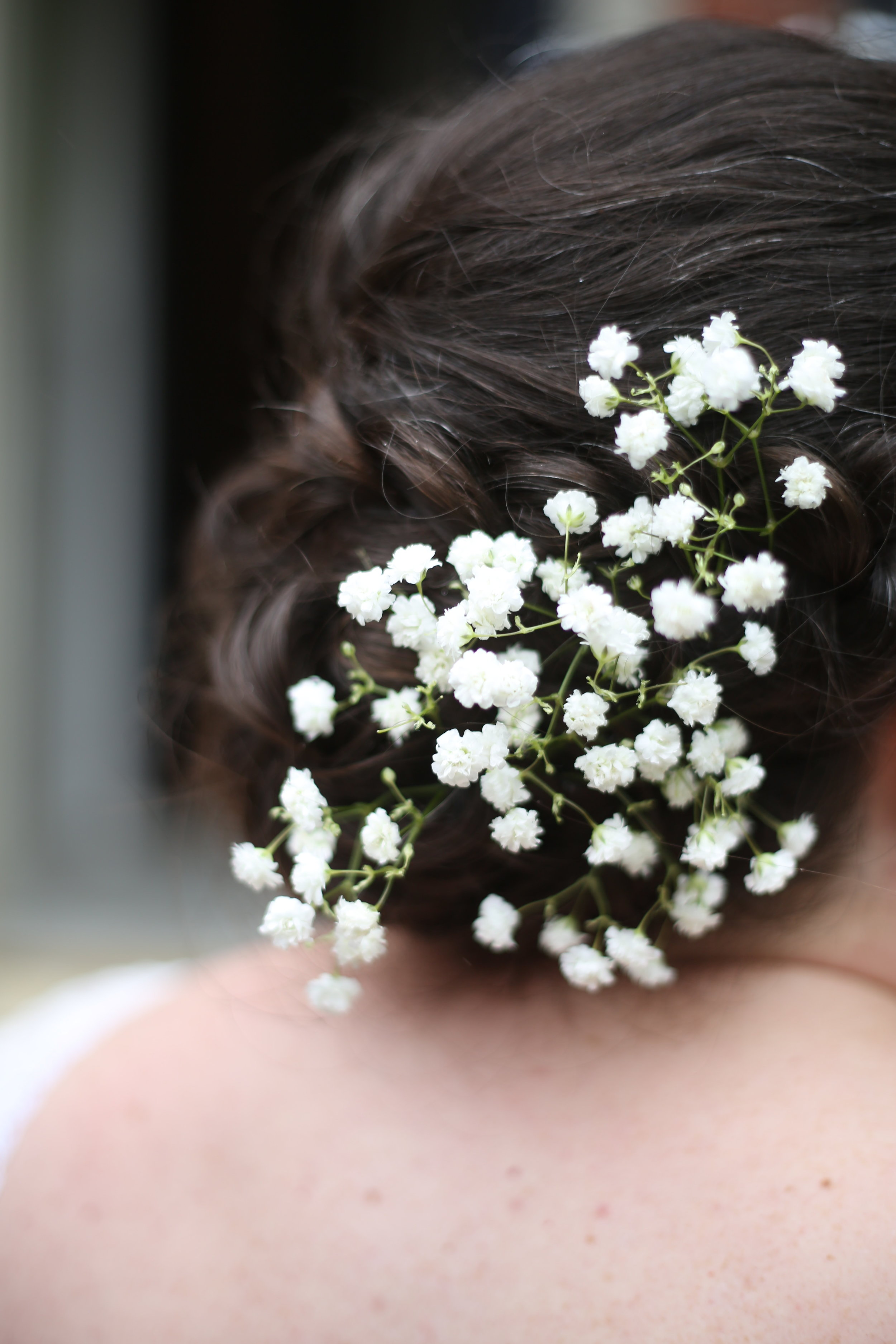 bridal updo hair style