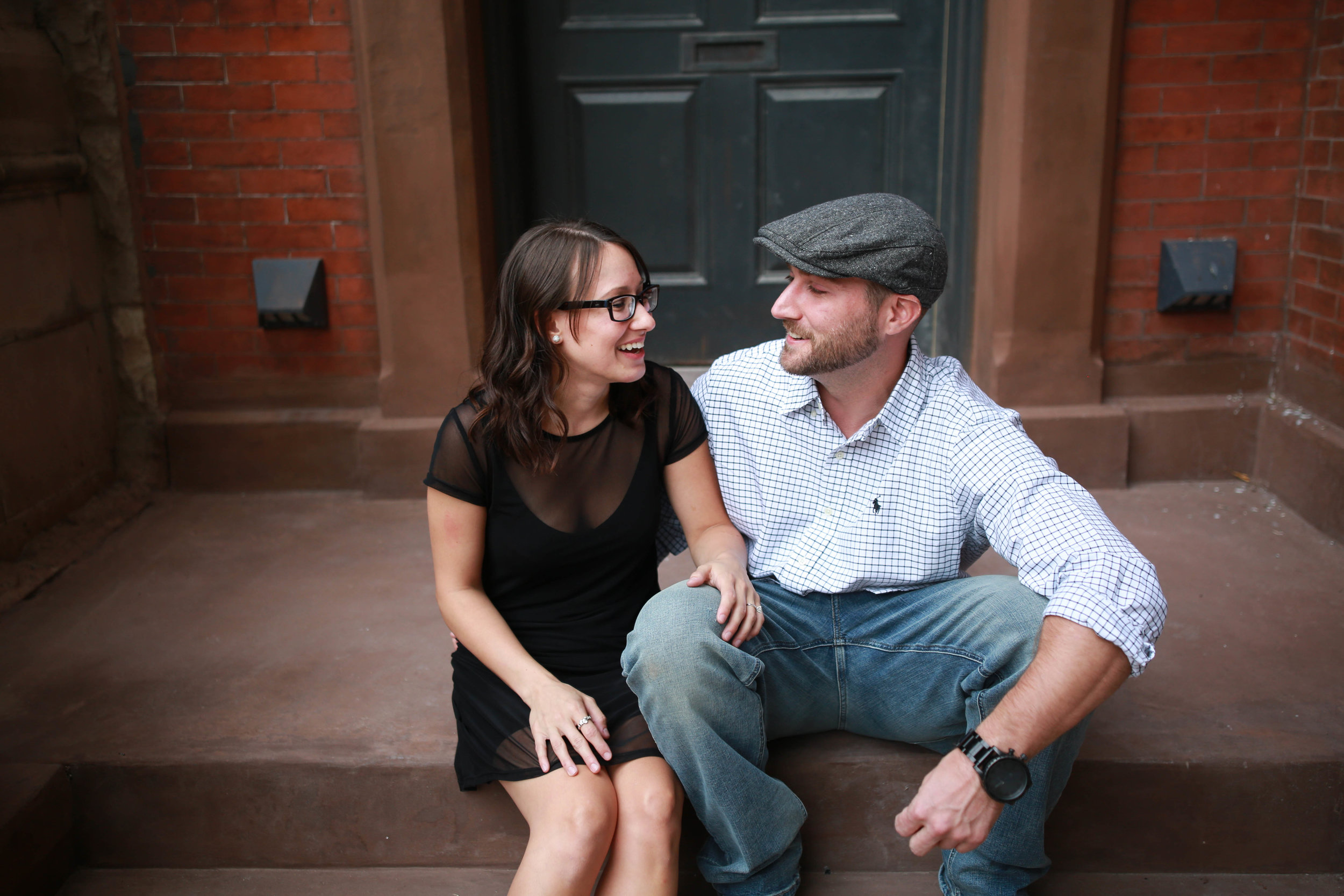 couple rittenhouse square engagement session