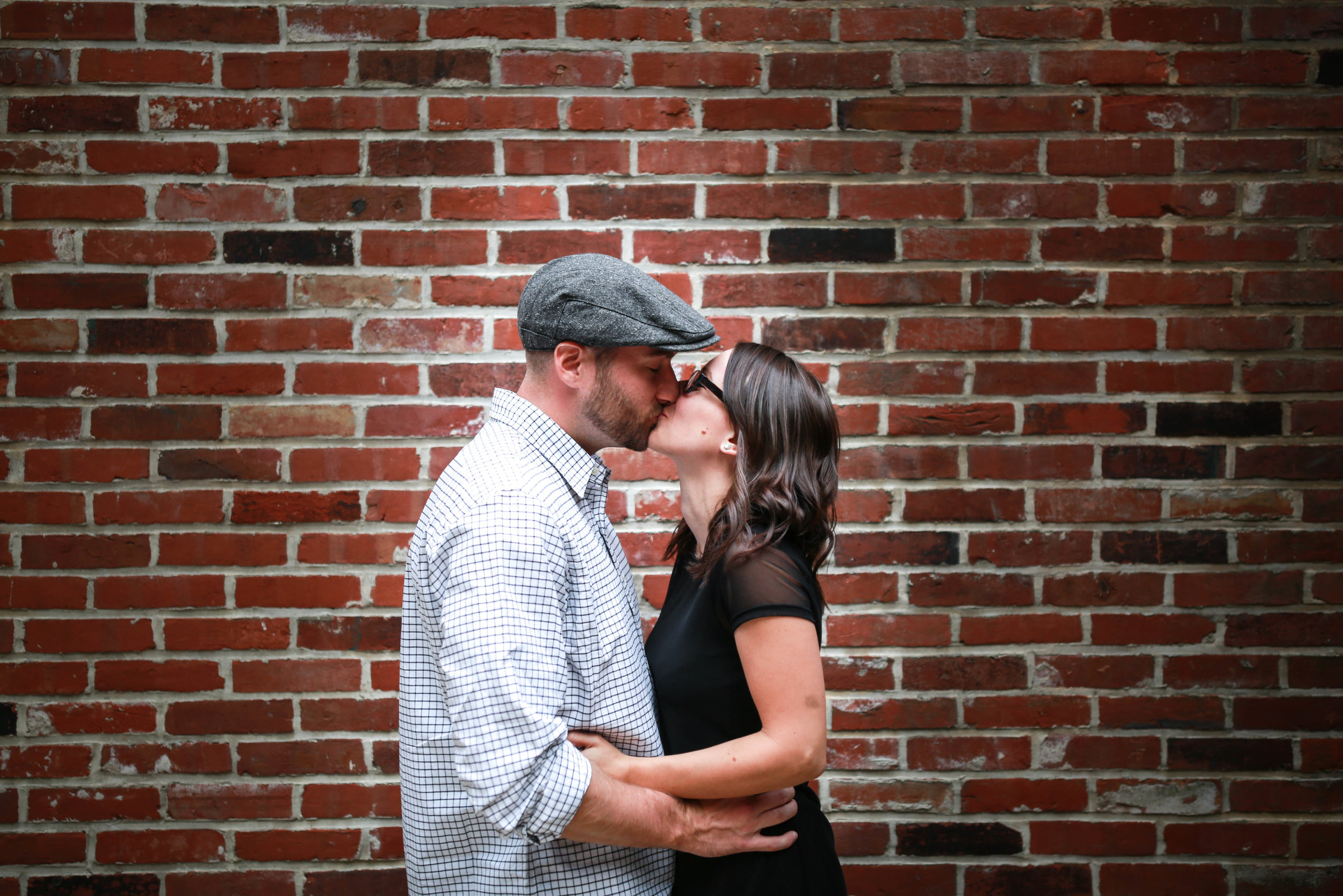 Photosession after surprise proposal in Philadelphia