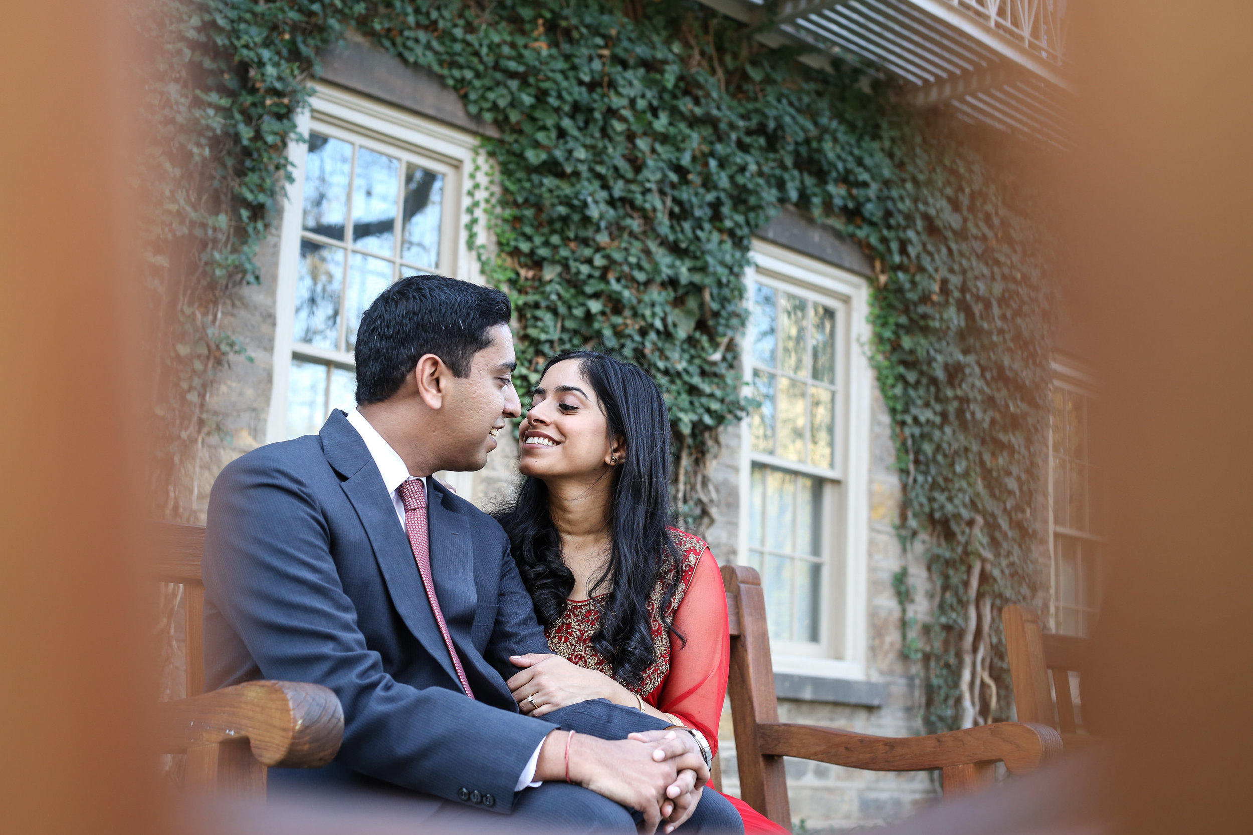 Couple engaged in Princeton