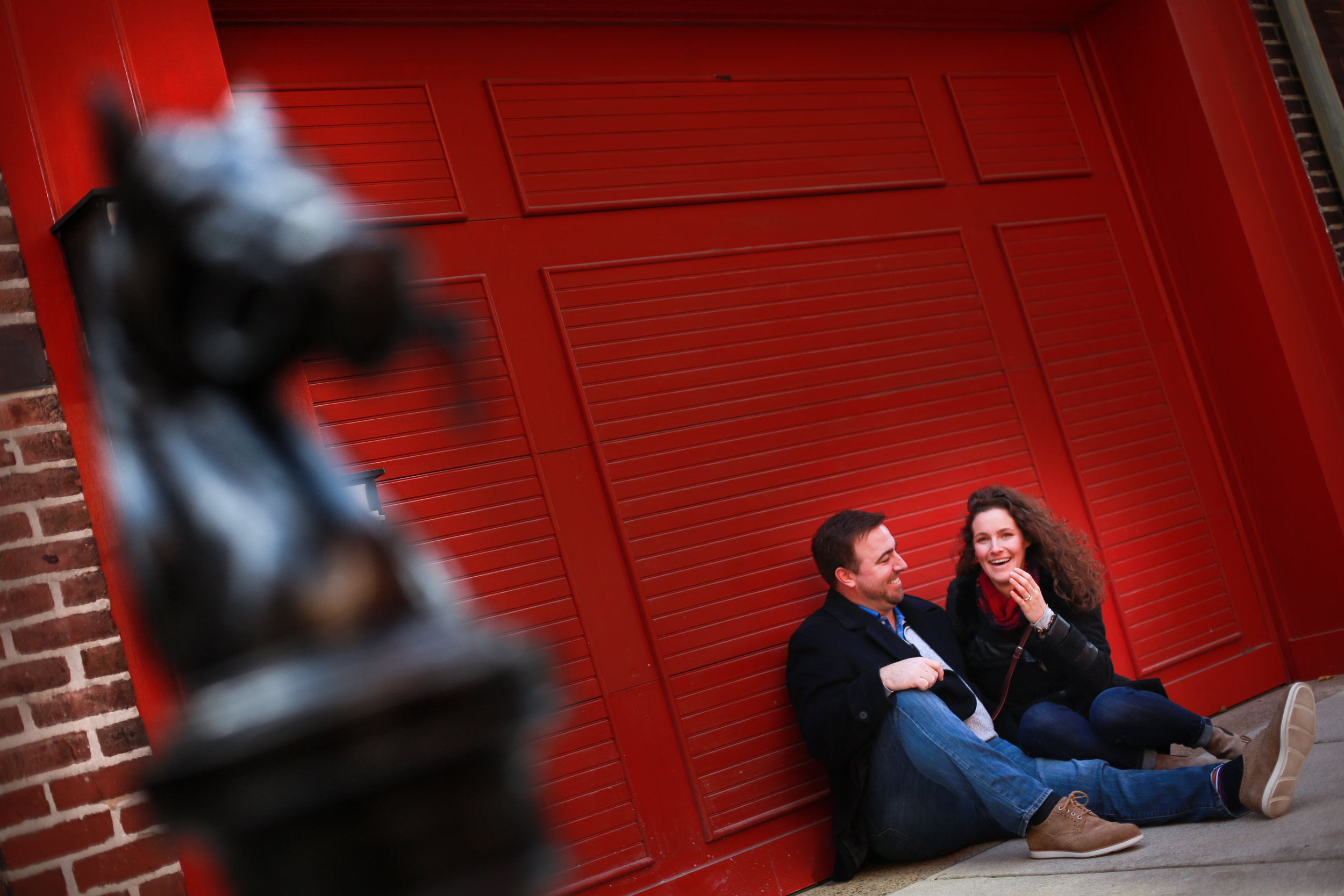 Old city engagement session and surprise proposal