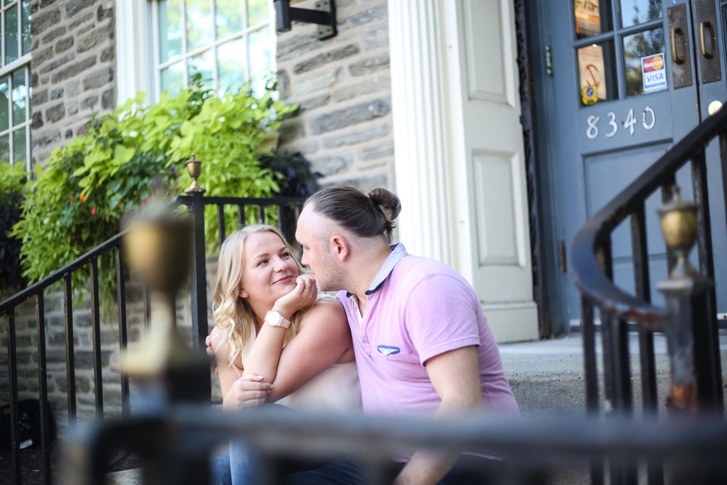 engagement session in chestnut hill