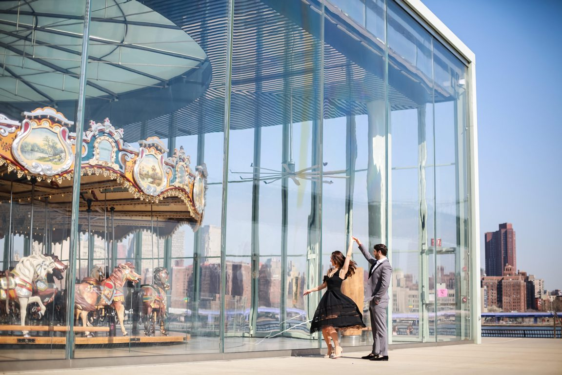 Jane's carousel photo with the twirling couple