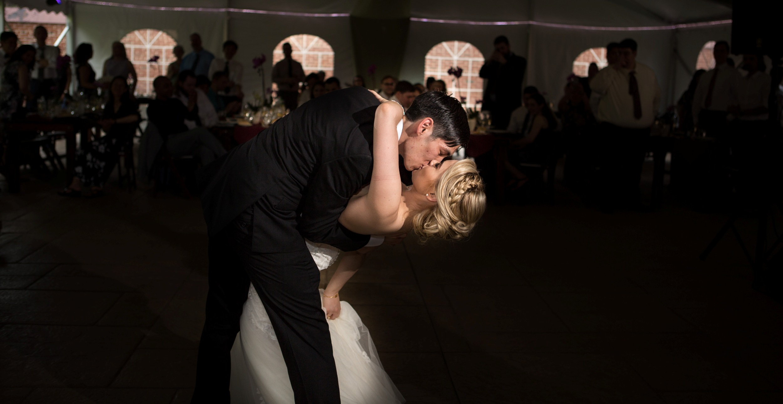 Dip while first dance