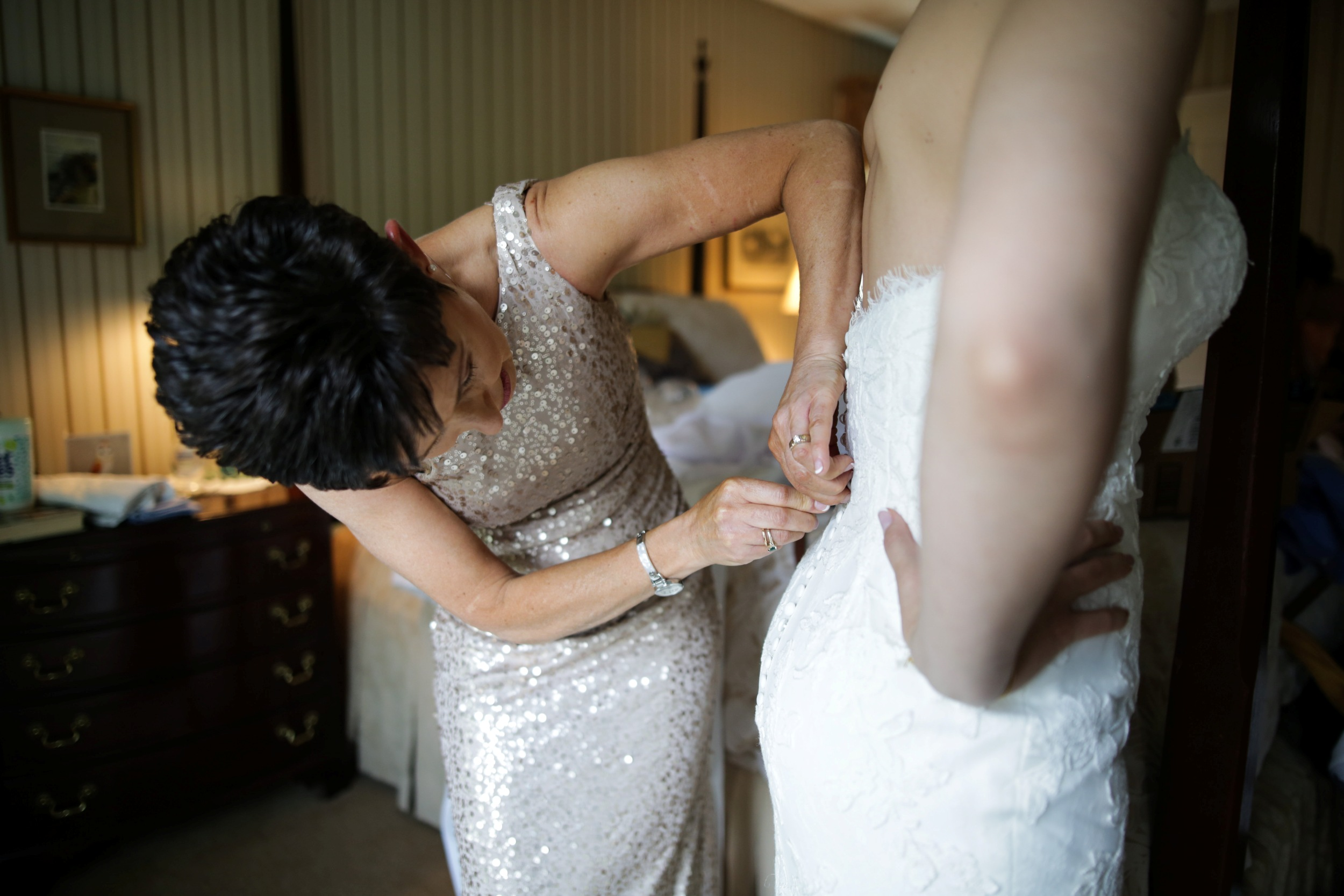 bridal getting ready