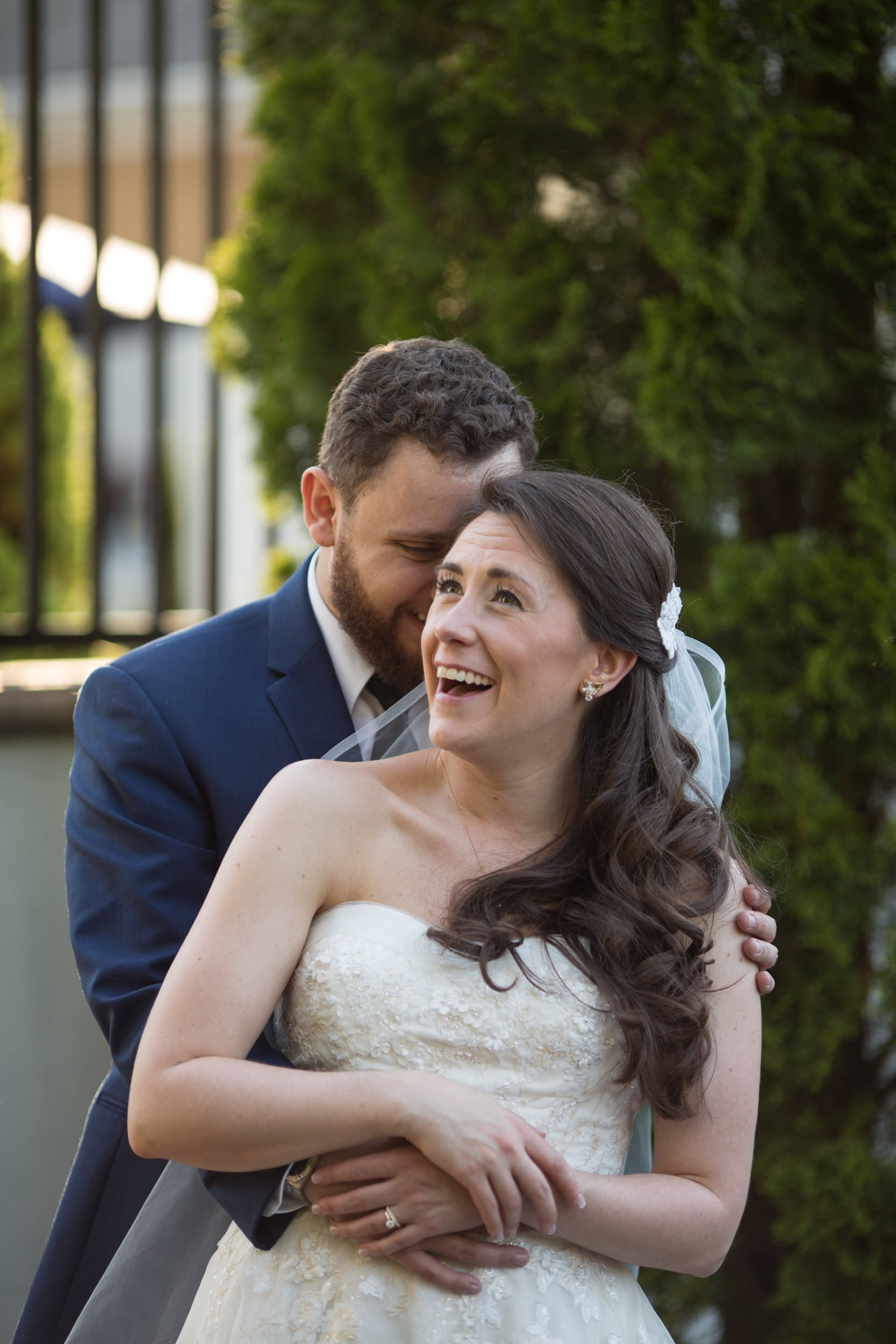 Wedding portraits at Mendenhall Inn in Media