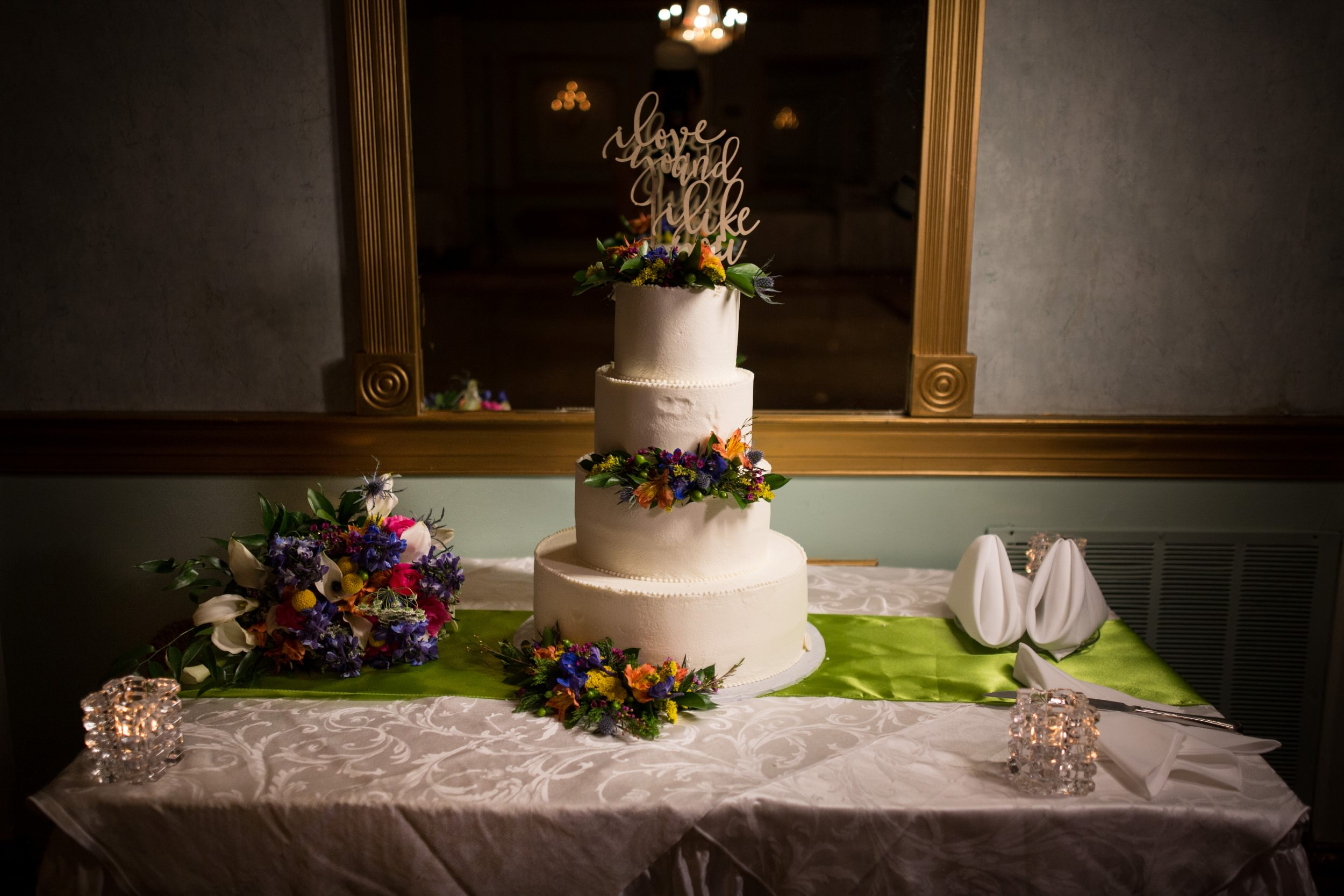 Wedding cake at Mendenhall Inn in Media