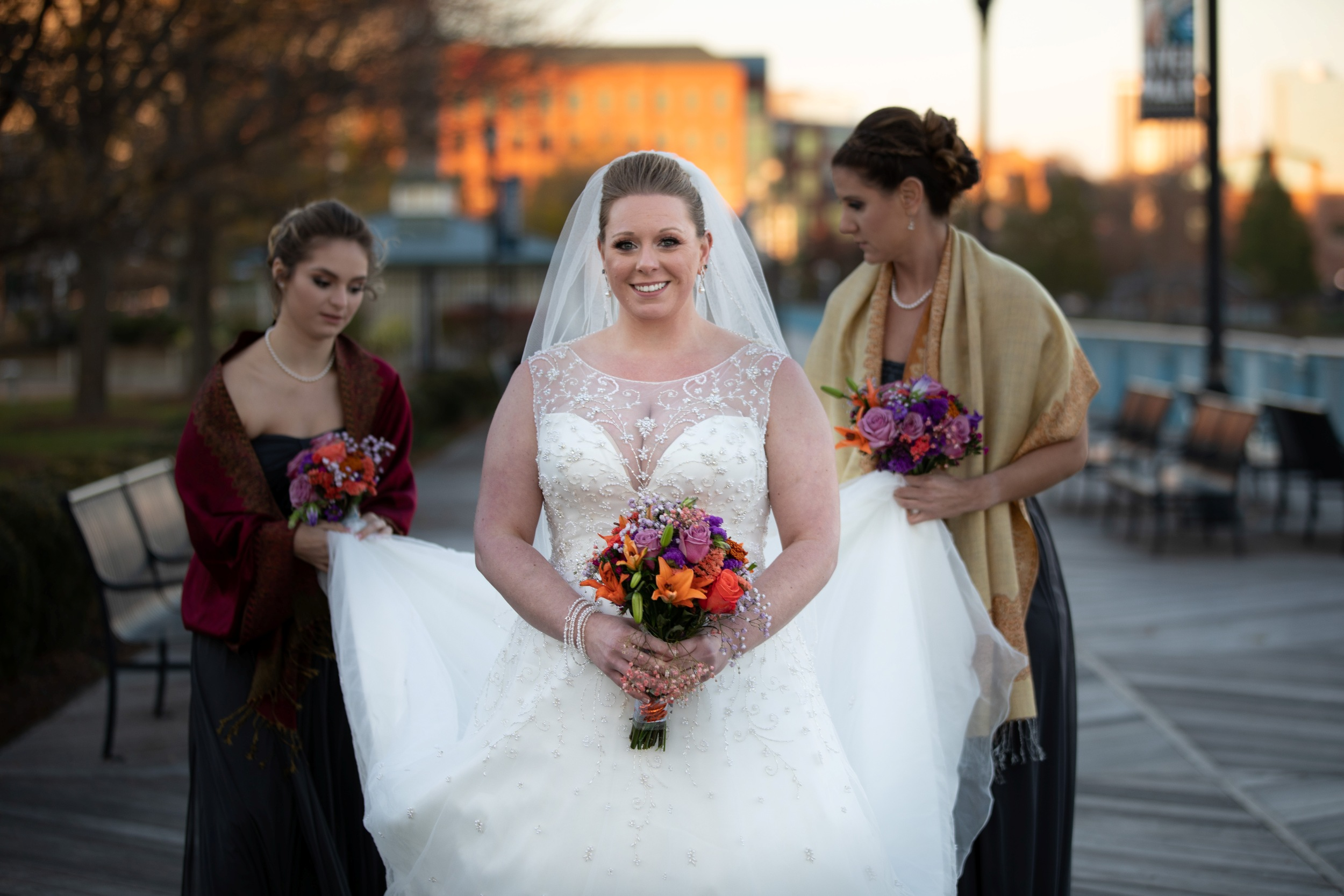 bride before the first look