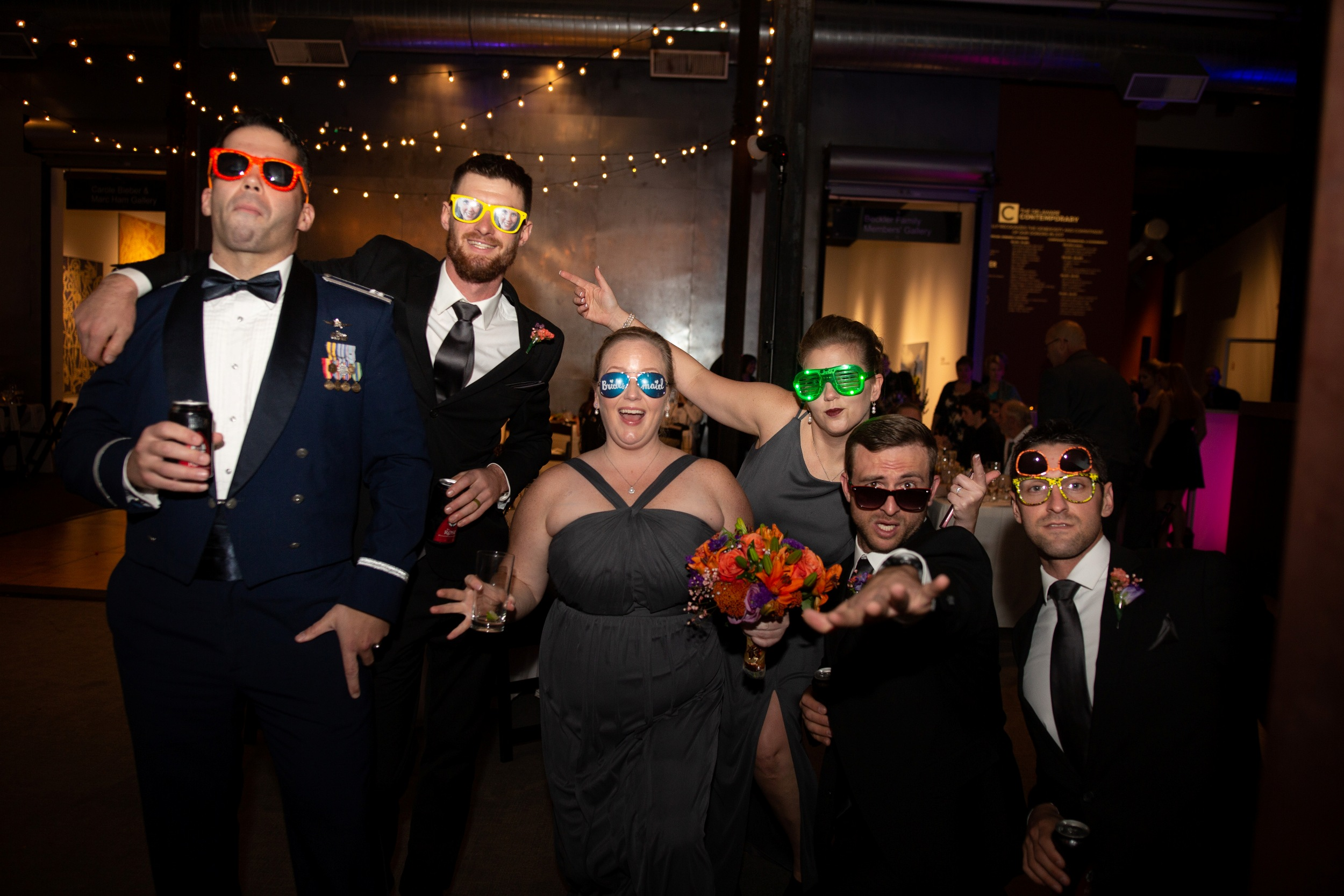 delaware contemporary bridal party photos