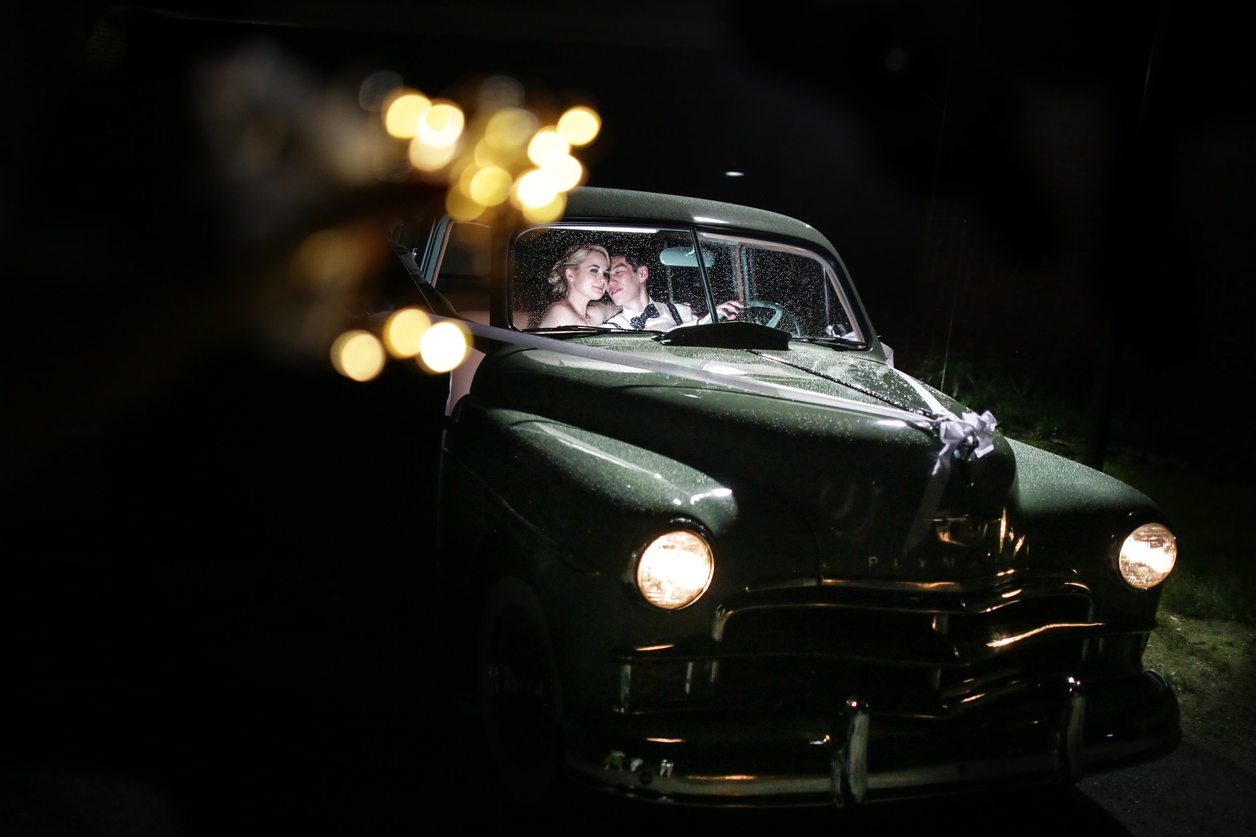 Smithville mansion modern elegant wedding  in vintage car.jpg