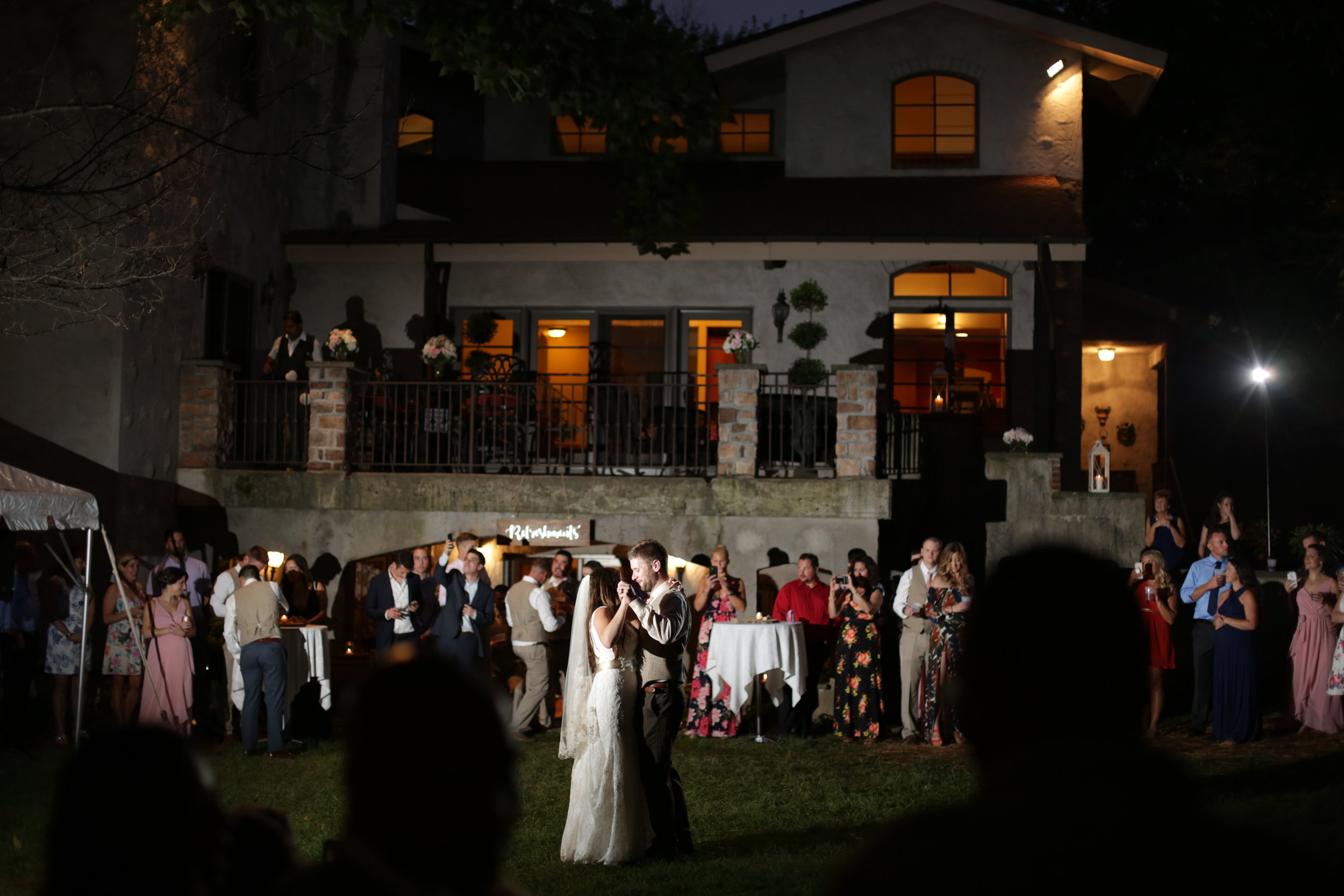 backyard ambler wedding photo
