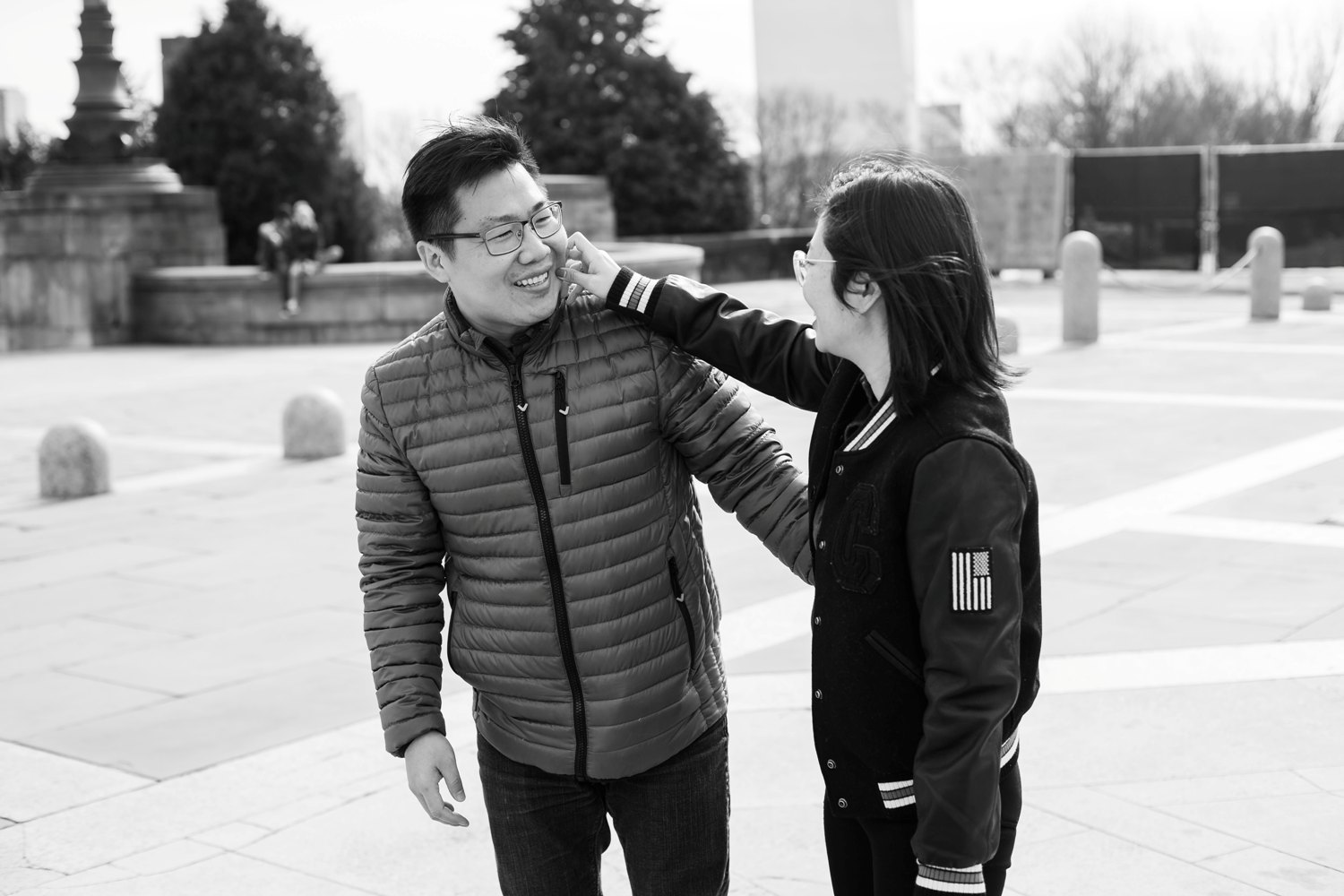 black and white philadelphia proposal photos