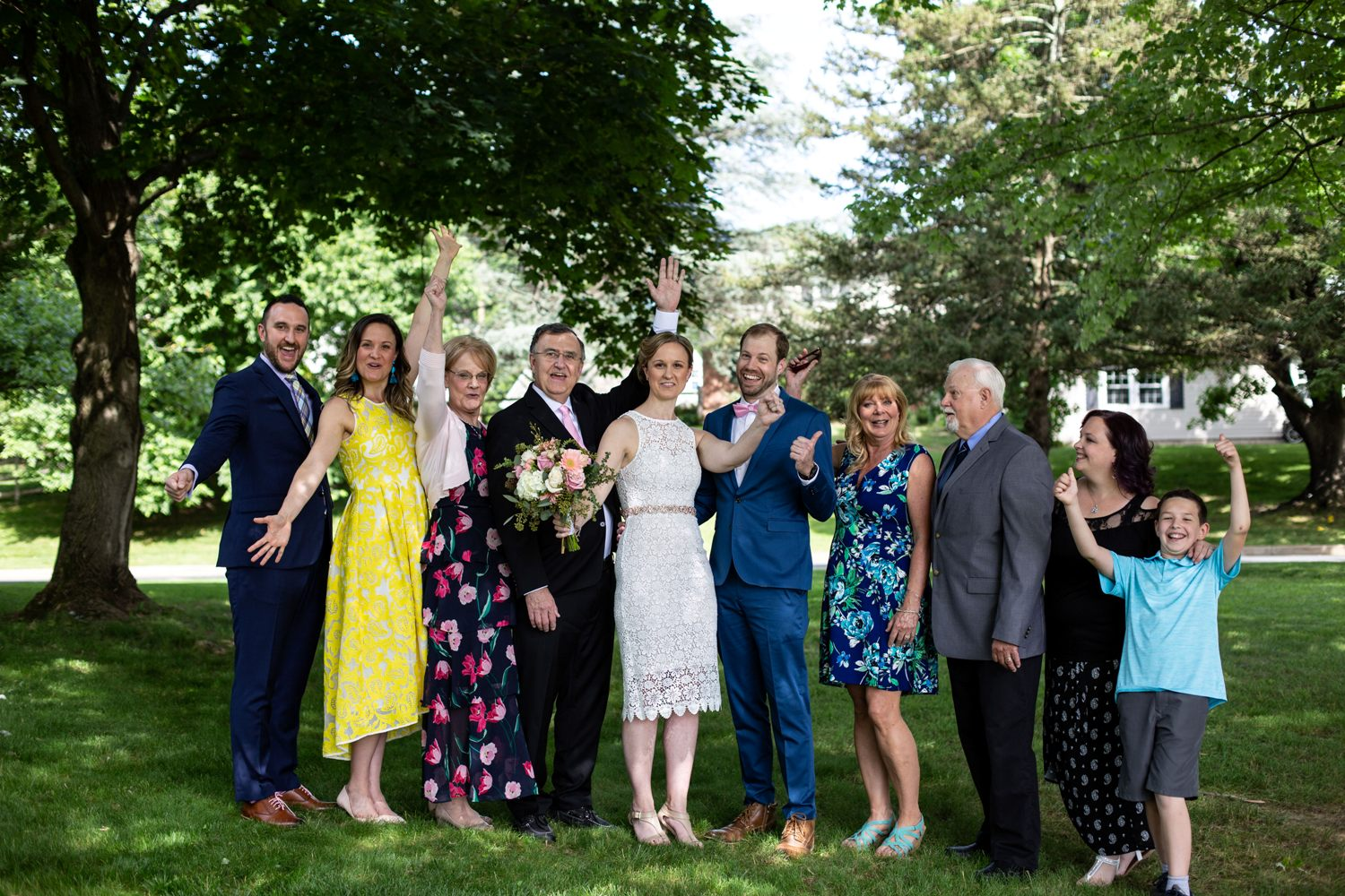 philly backyard wedding photos