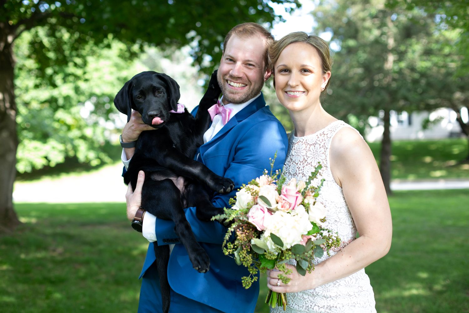 puppy wedding photos