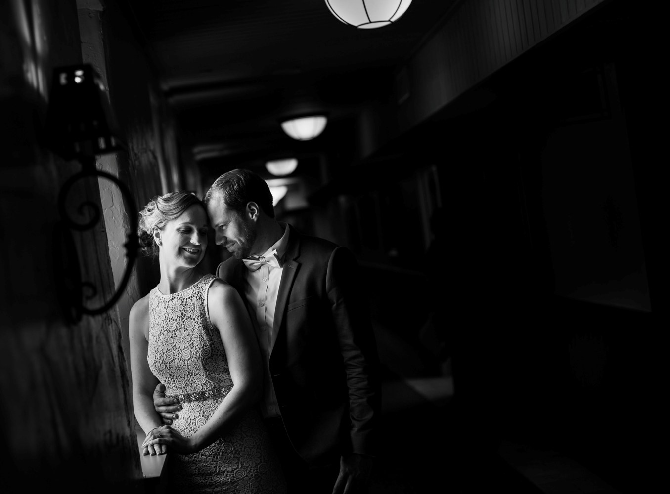 black and white normandy farm blue bell wedding photo