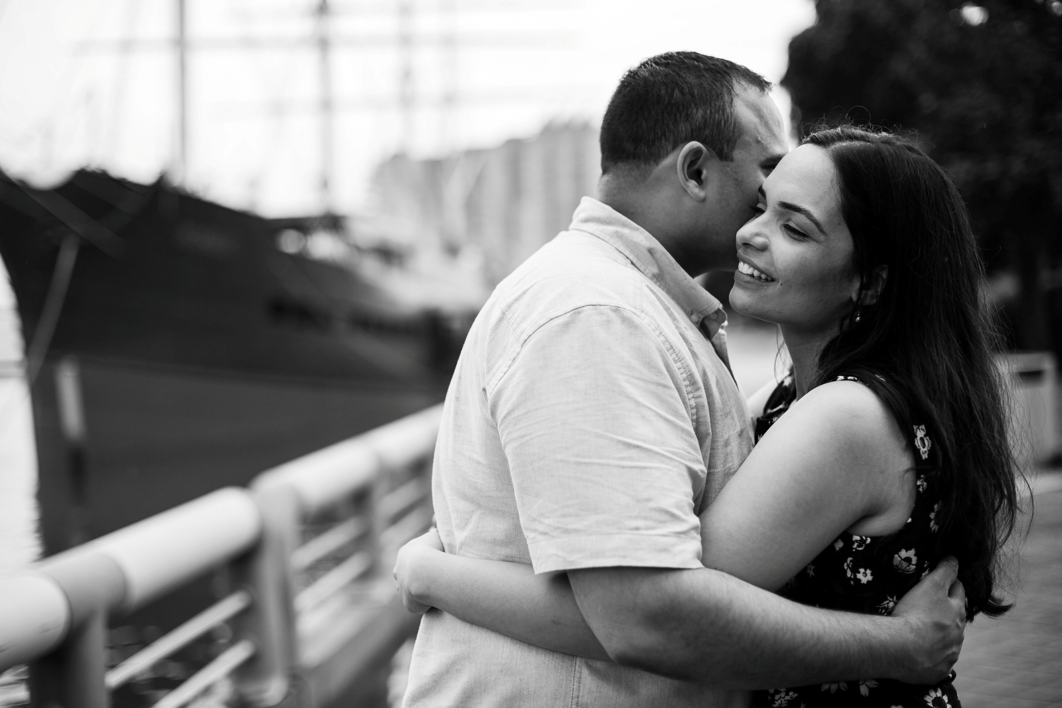 black and white  engagement philly photo session