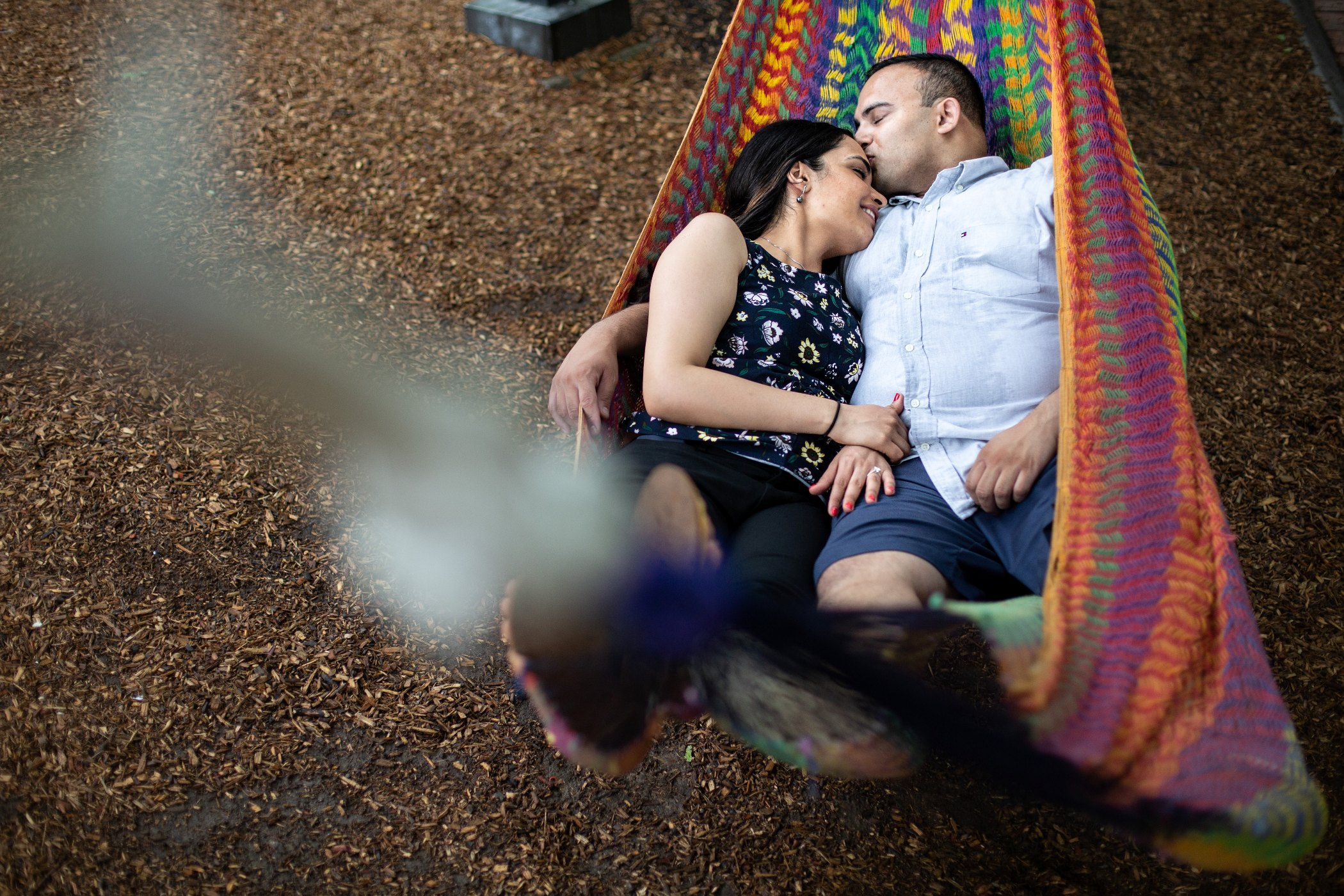 hammocks engagement session philly