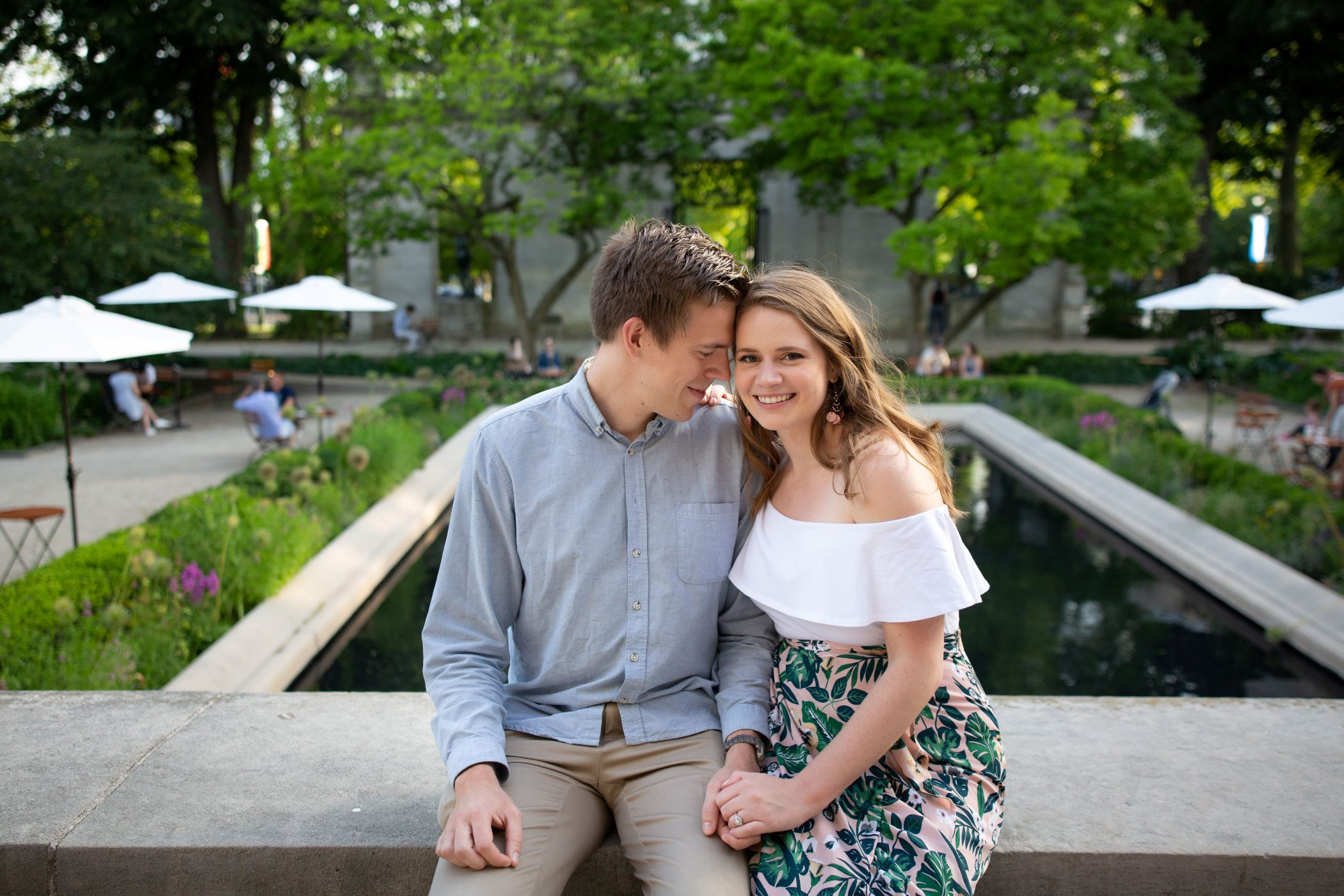 rodin museum engagement session