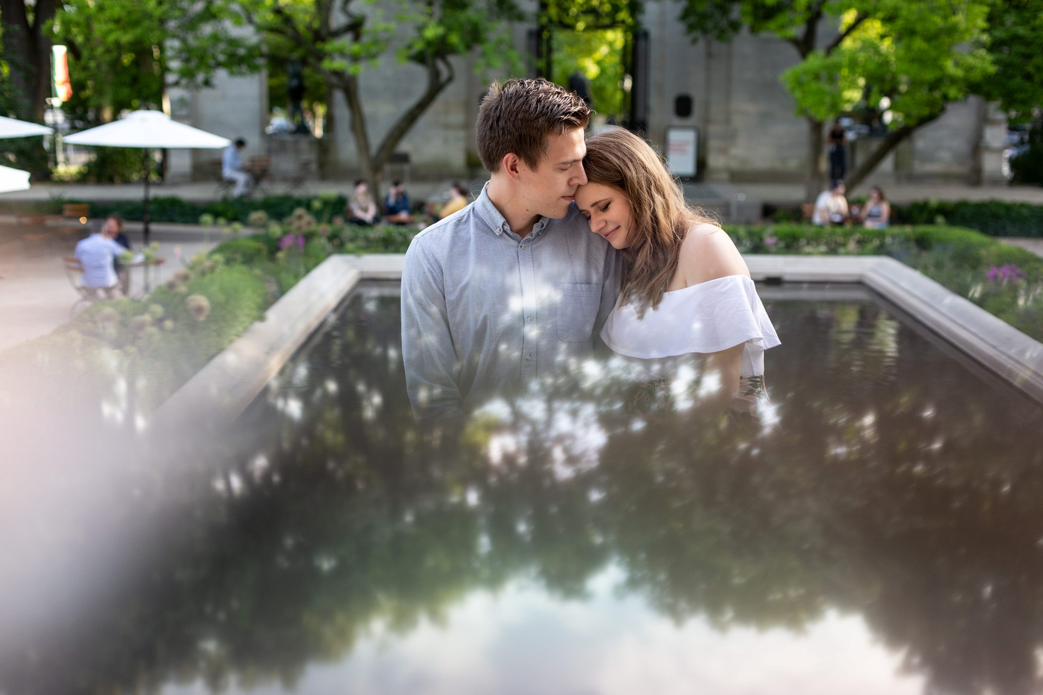 rodin museum engagement photos
