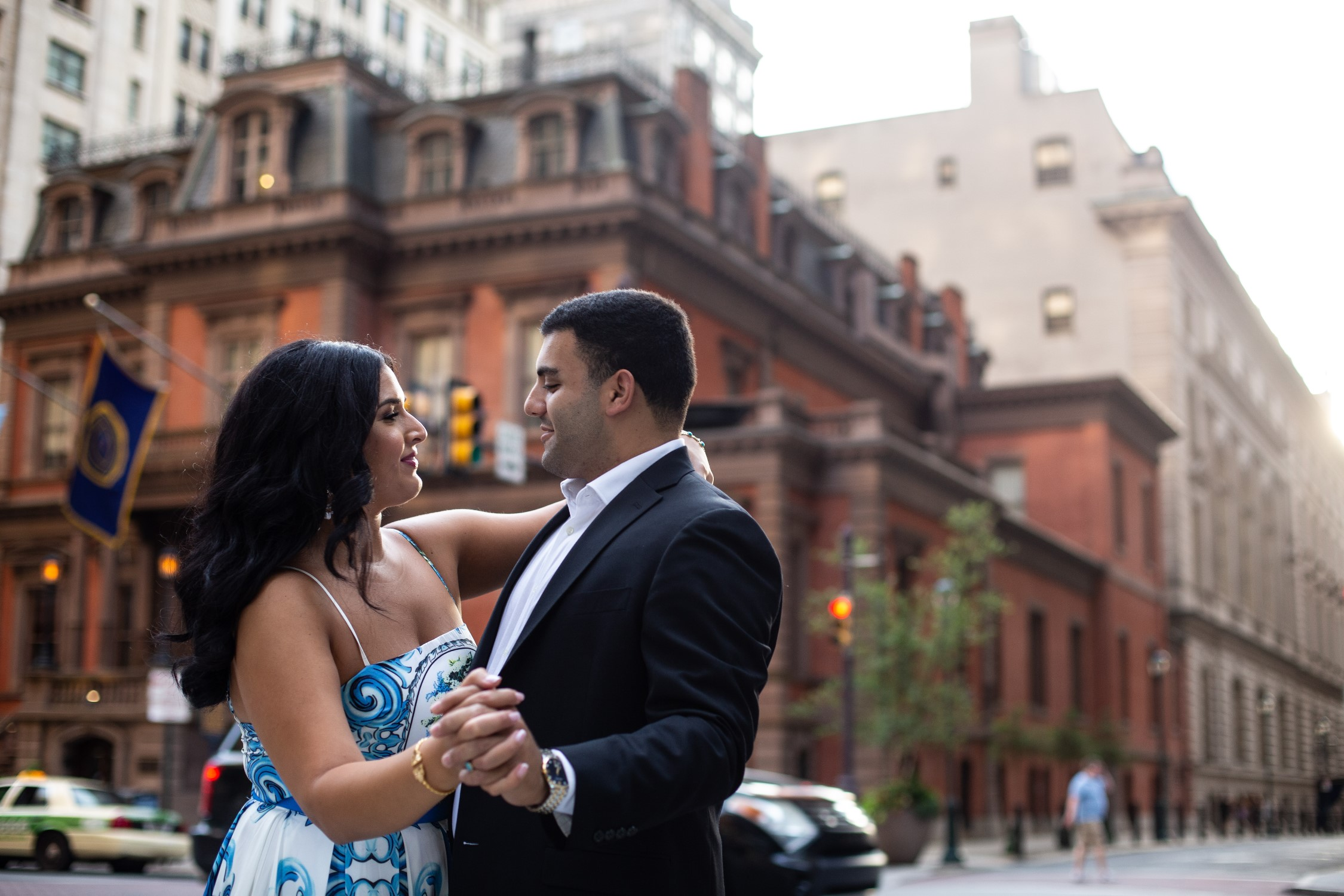 avenue of the arts philly engagement photography