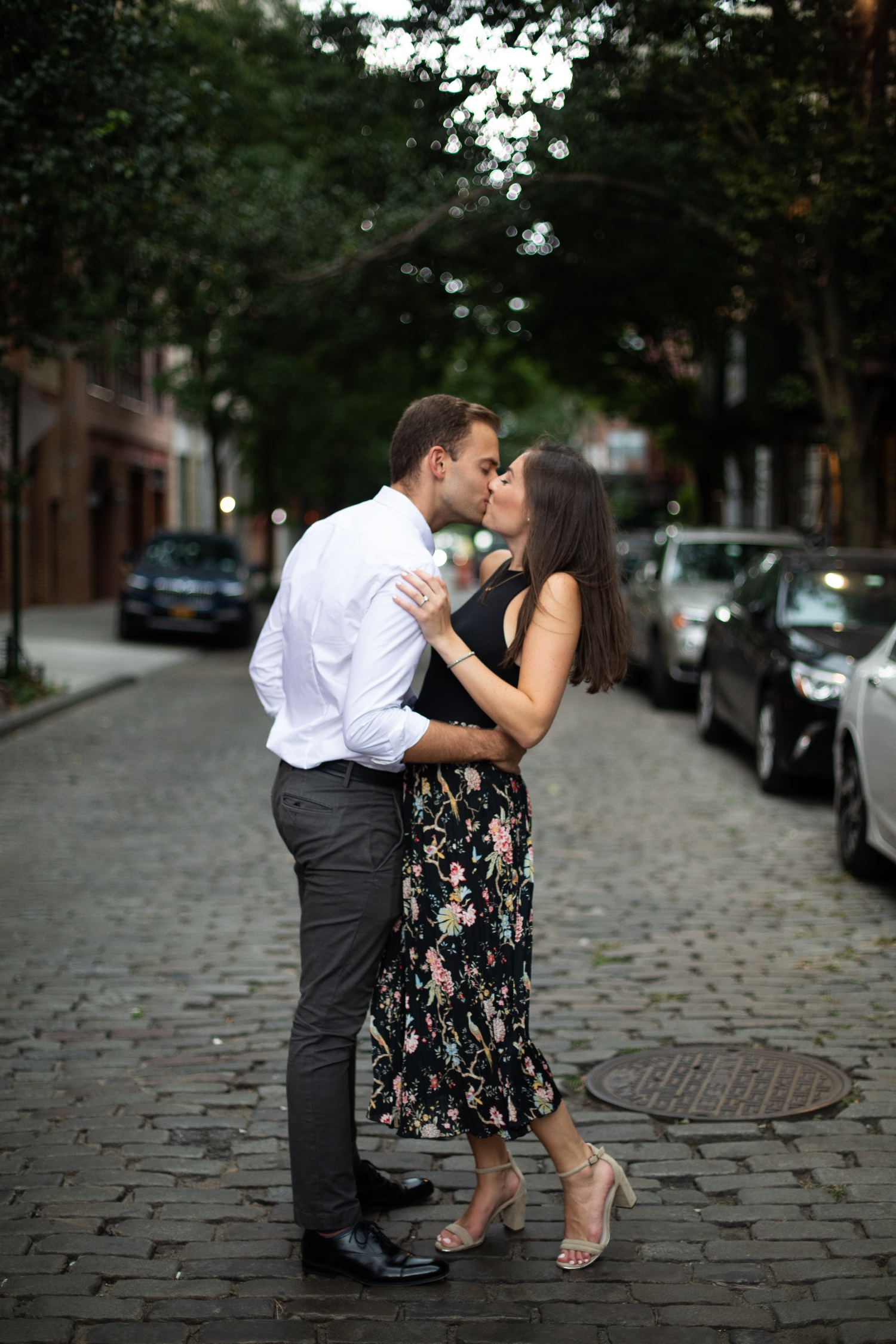 romantic engagement photo session nyc