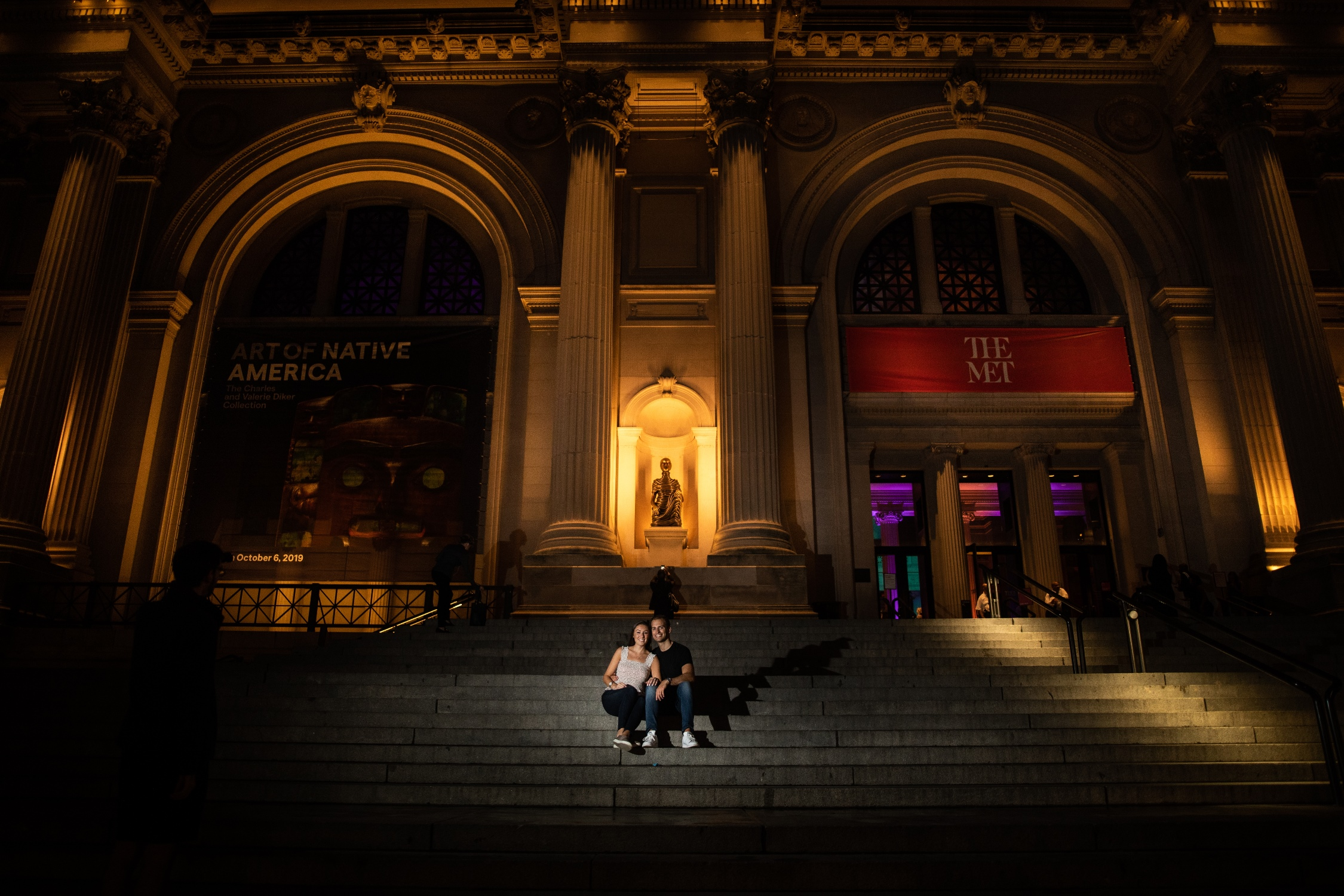 the met nyc engagement photos