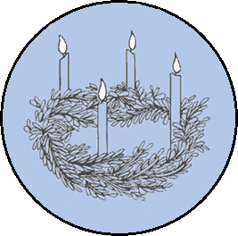 liturgical year - Advent 2 white flames.png