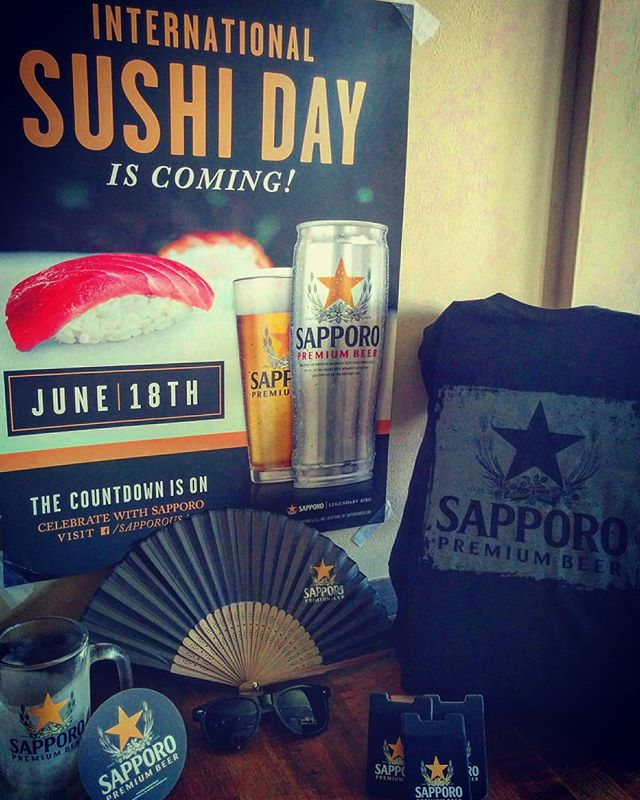 International Sushi Day is this Sunday, June 18th!!! [Sapporo] x [KB] will be giving away some goodies for those that order Sushi & Sapporo 🍺 this Sunday night!!! (Shirts, sunglasses, Japanese fan, etc) . . . #huntingtonvillage #huntingtonny #longisland #longislandny #longislandlife #longislandfoodie #longislandrestaurant #longislandeats #sapporobeer #sapporo #internationalsushiday