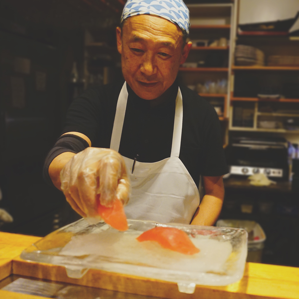 - Makoto Yamada, head sushi chef/current owner, not only delights the visual senses, but takes the palate on a gastronomic experience by incorporating only the highest quality seafood, preparations, and ingredients. A traditionally trained chef in the art of sushi from Tokyo, Japan, Mr. Yamada has mastered his craft through 40 years of experience.