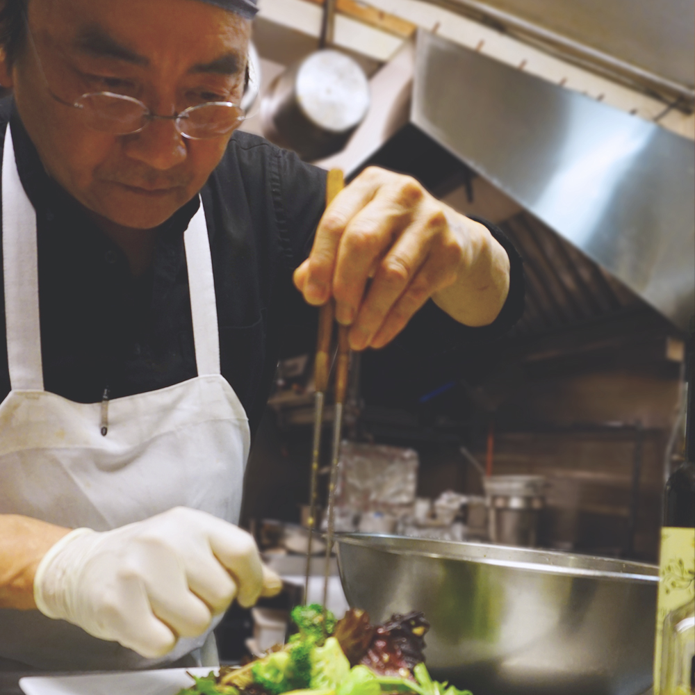 - Commanding the kitchen is Hitoshi Sakurai, a restaurant owner/chef from Kobe, Japan. His background in art and design is reflected in his creations of contemporary Japanese dishes. His craftwork tempura never ceases to delight, and his specials are improvised on the spot, never repeating one twice.