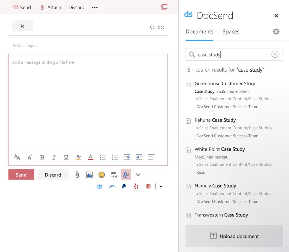 DocSend Microsoft Office add-in