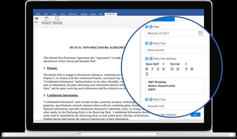 Woodpecker Microsoft Office add-in