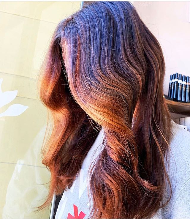 This hair is on 🔥🔥🔥. We are loving this vibrant color! If you want to be blonde, red or dark Anastasia is your girl! Hair by @redsparrowhair