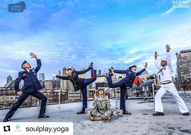 To all the Veterans ❤️ Thank you for your service, commitment and selflessness. I bow to you, today and every day 🙏 .... repost @soulplay.yoga . Thank you Veterans for your service. Namaste to you 🙏Today and every day. . PC: from @veteransyogaproject with photo by @robertsturman . . . . #veteransyoga #veteransyogaproject #warriorsatease #veteransdays2018 #thankyou #inclusiveyoga #communityyoga #thisisyoga #mindfulresilience #gratitude #losangelesveterans