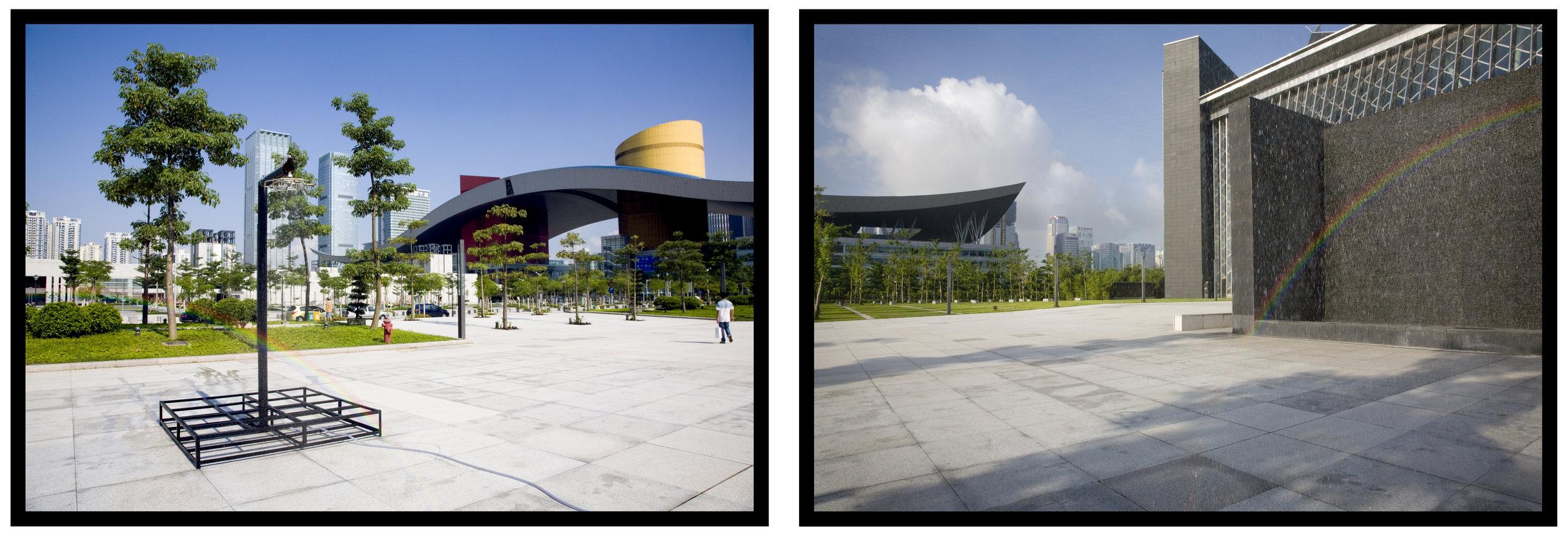 Rainbow 50x18  Installation view, Shenzhen, PRC sponsored by the Shenzhen Institute of Fine Arts, Shenzhen, PRC