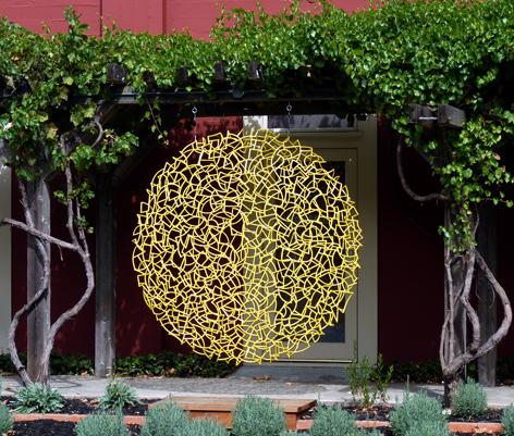 """Ivan McLean's sculpture """"Yellow Disk 78"""". Image courtesy of Sculpturesite"""