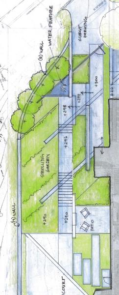 Site Plan, shown vertically, by Arterra