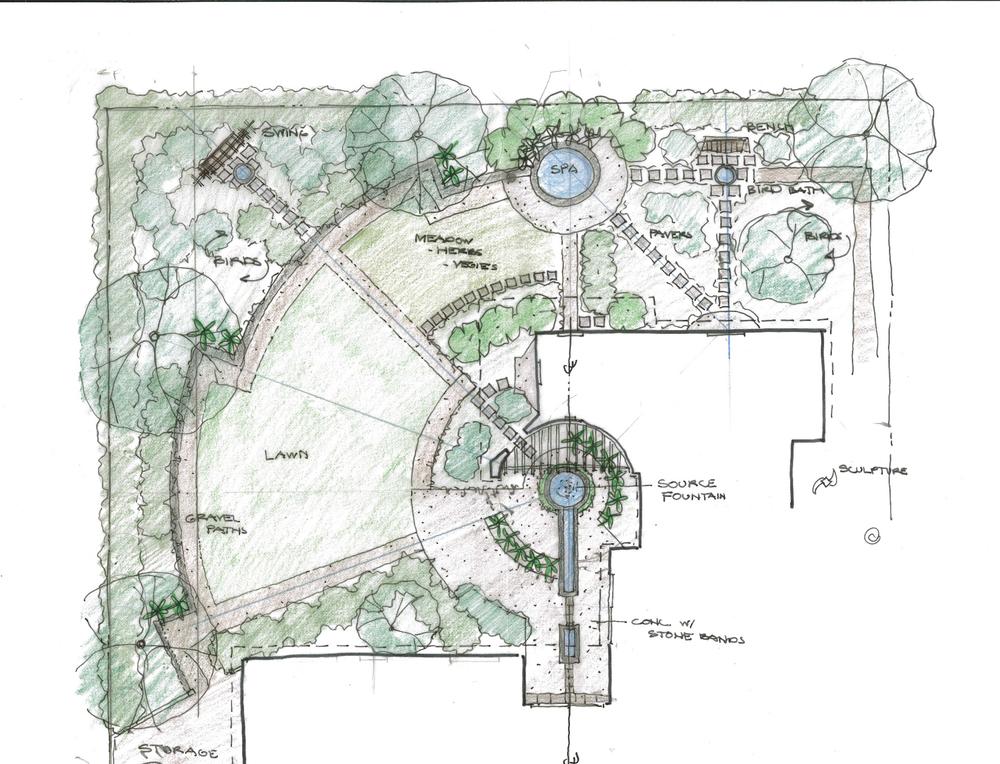 Conceptual plan by Arterra Landscape Architects