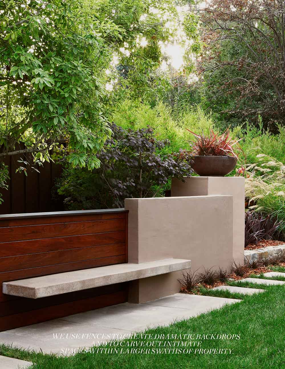 Garden Design features the bench as sculpture from Arterra's project The Garden as Sculpture.