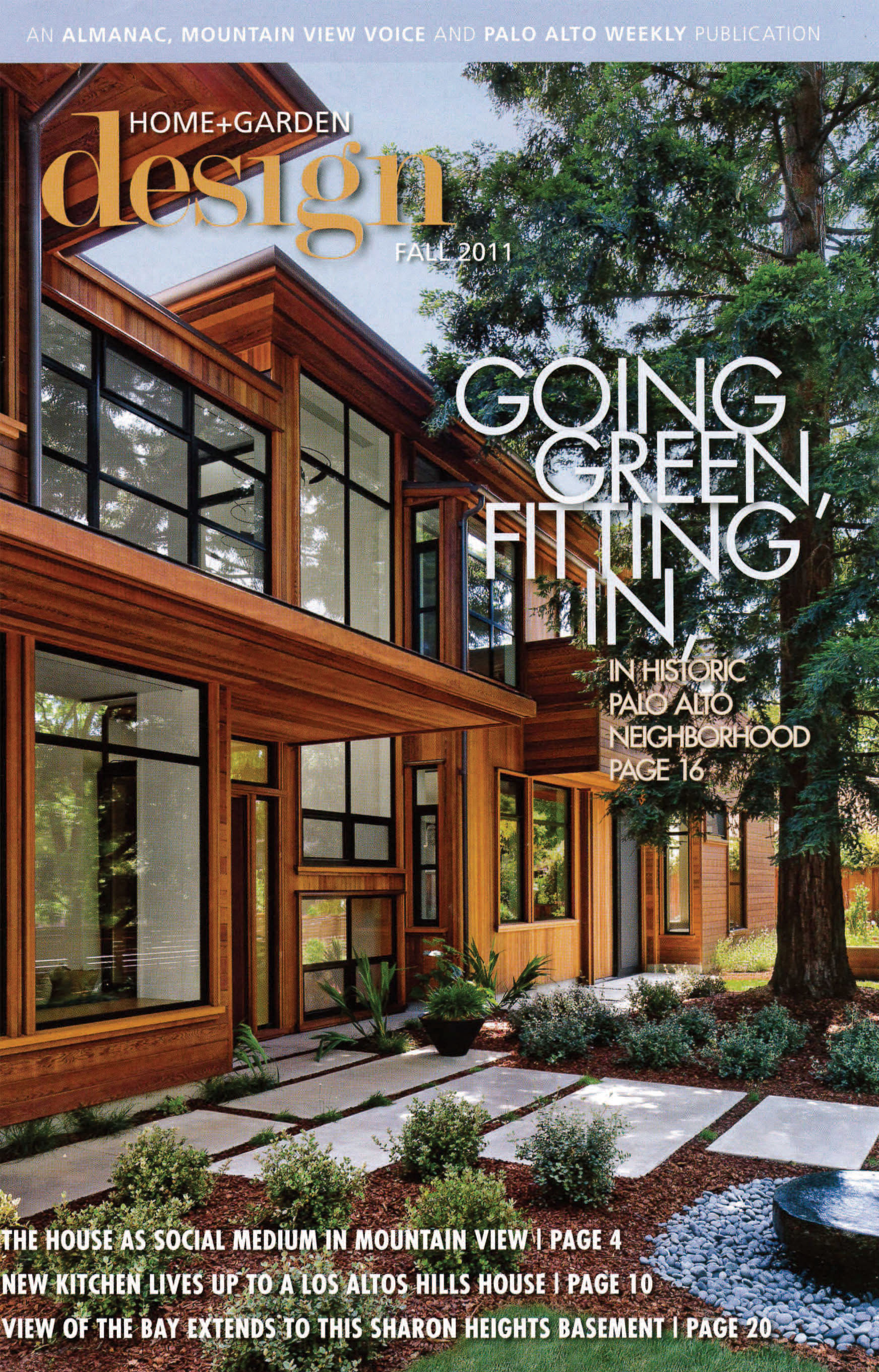 The Lantern House is on the cover of Palo Alto Home + Design