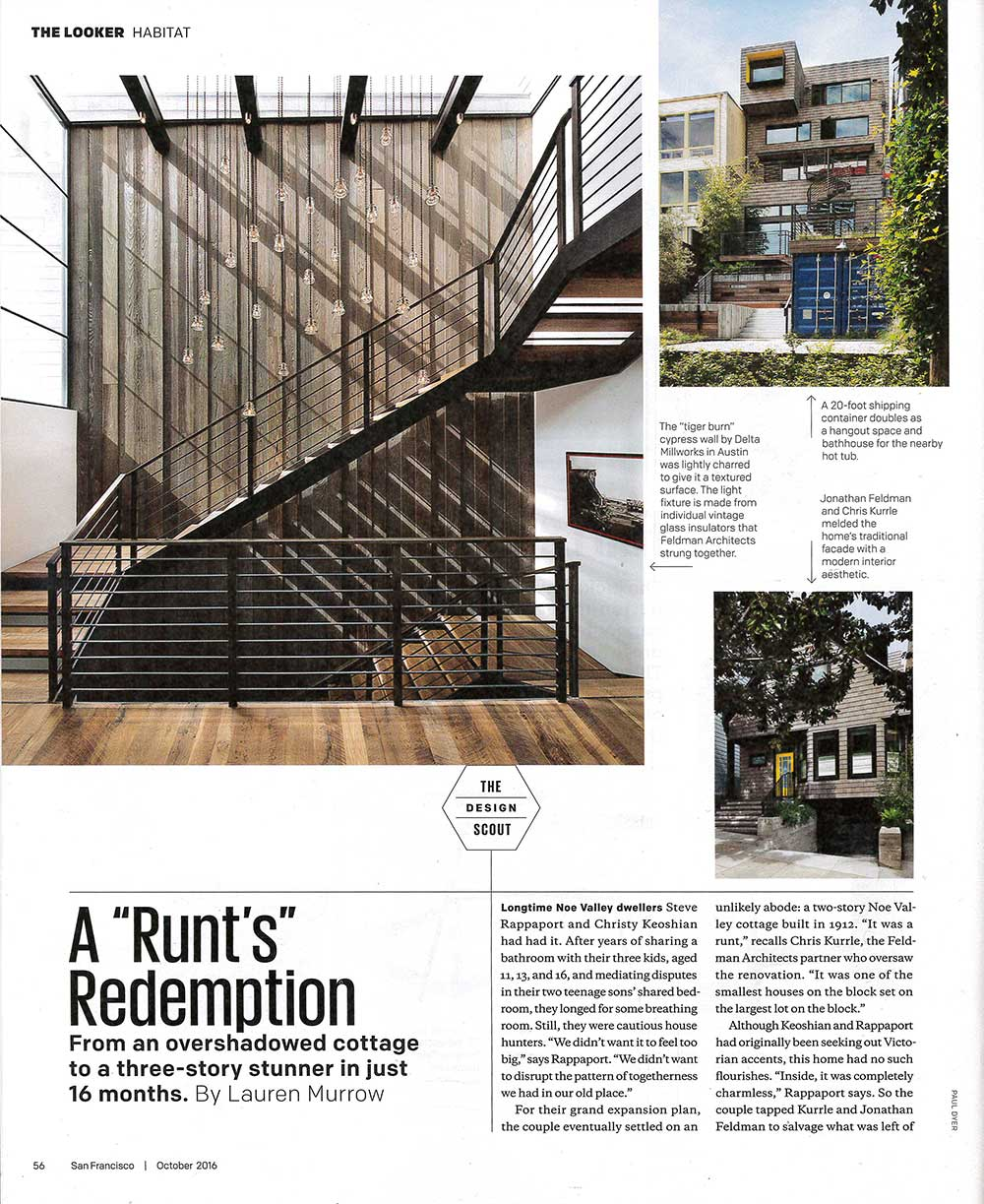 A spread of San Francisco Magazine shows Stacking the Deck with text.