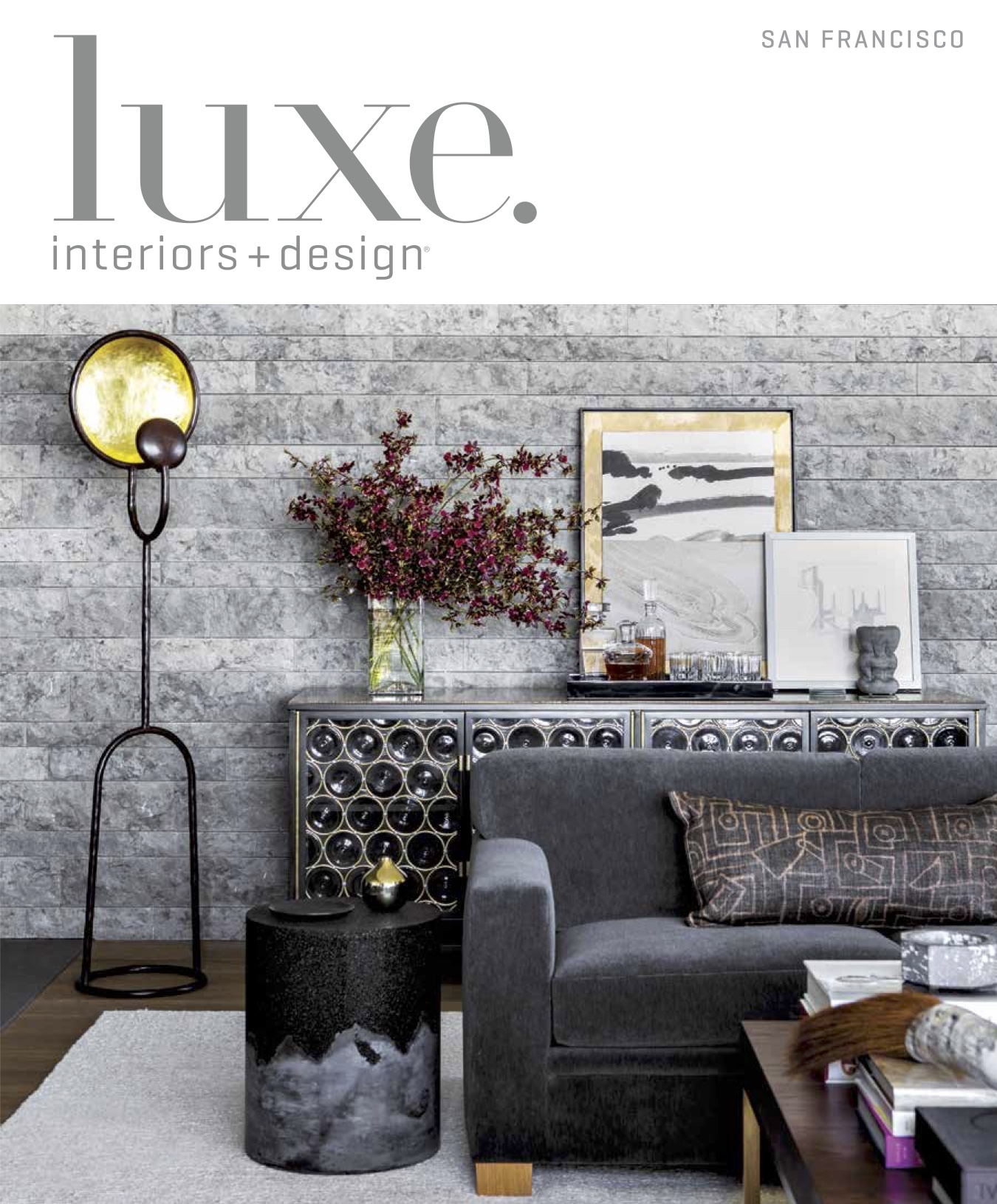 Seven spreads of Luxe Magazine feature Arterra's project Vintner's View.