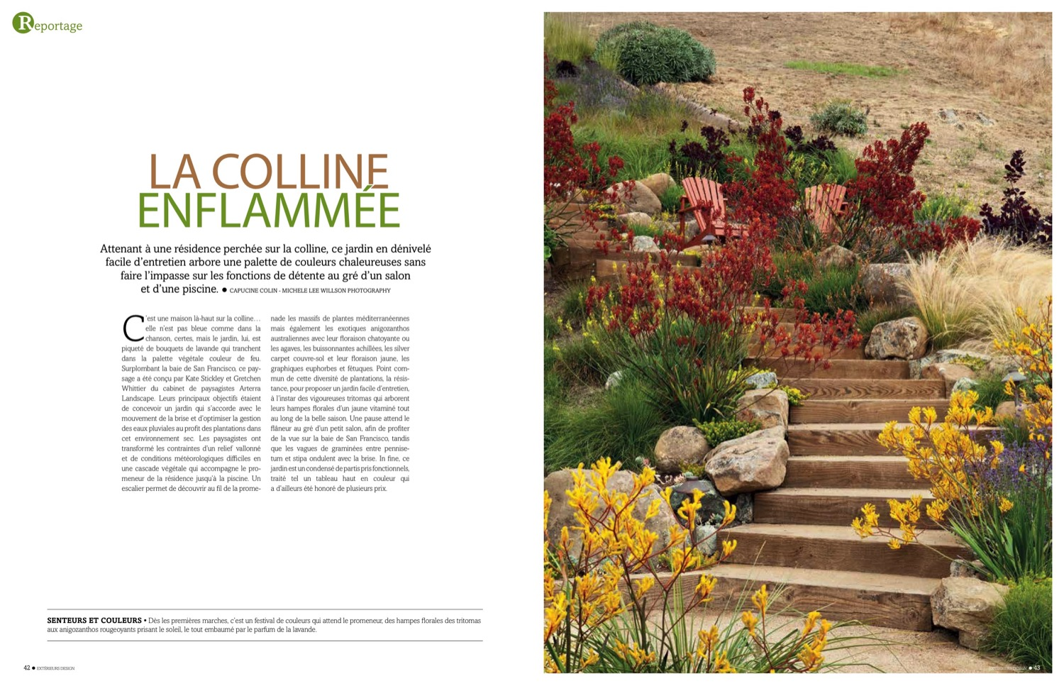 The Painterly Approach is featured in French magazine, Exterieurs Design