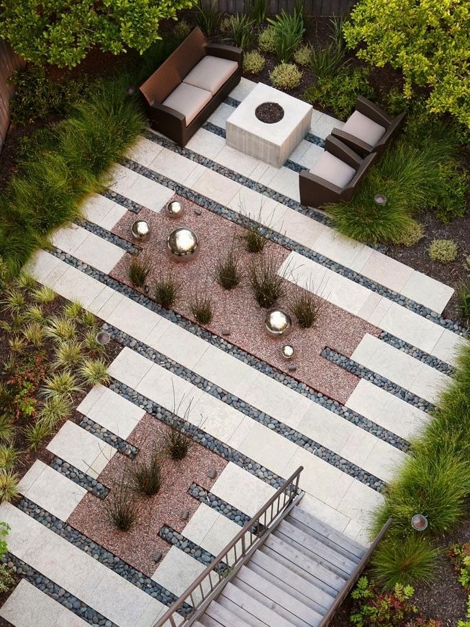 16 Inspirational Backyard Landscape Designs - As Seen From Above