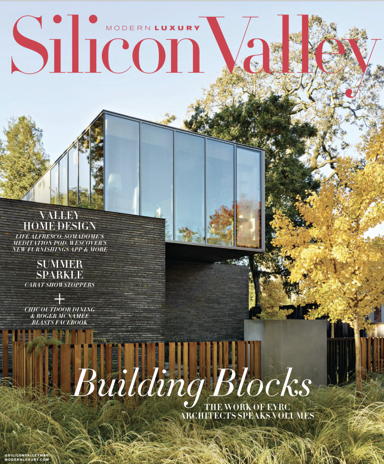 Cover of Modern Luxury Silicon Valley showing a modern home.