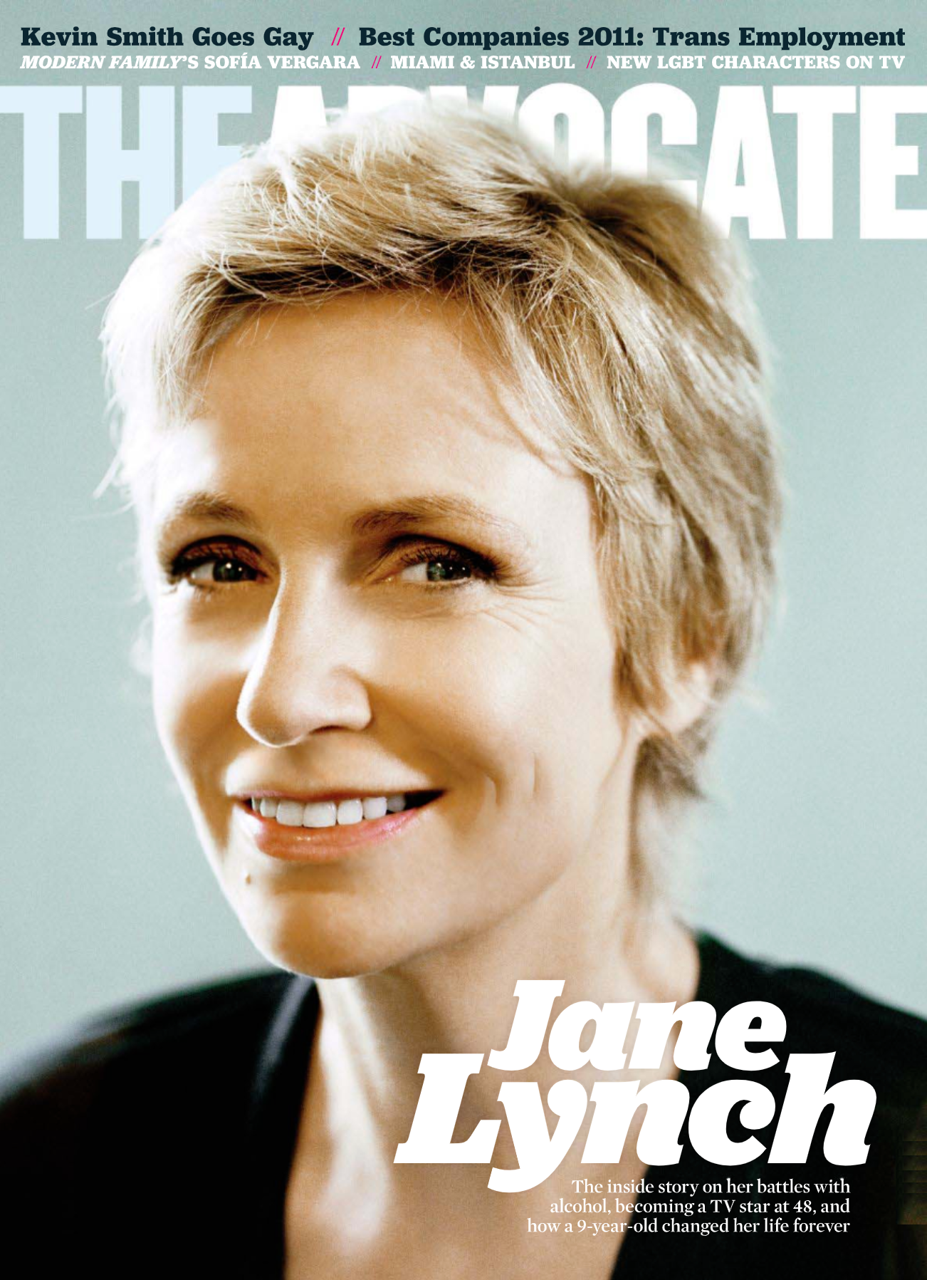 Jane Lynch The Advocate Magazine - Dave Johnson Web Design